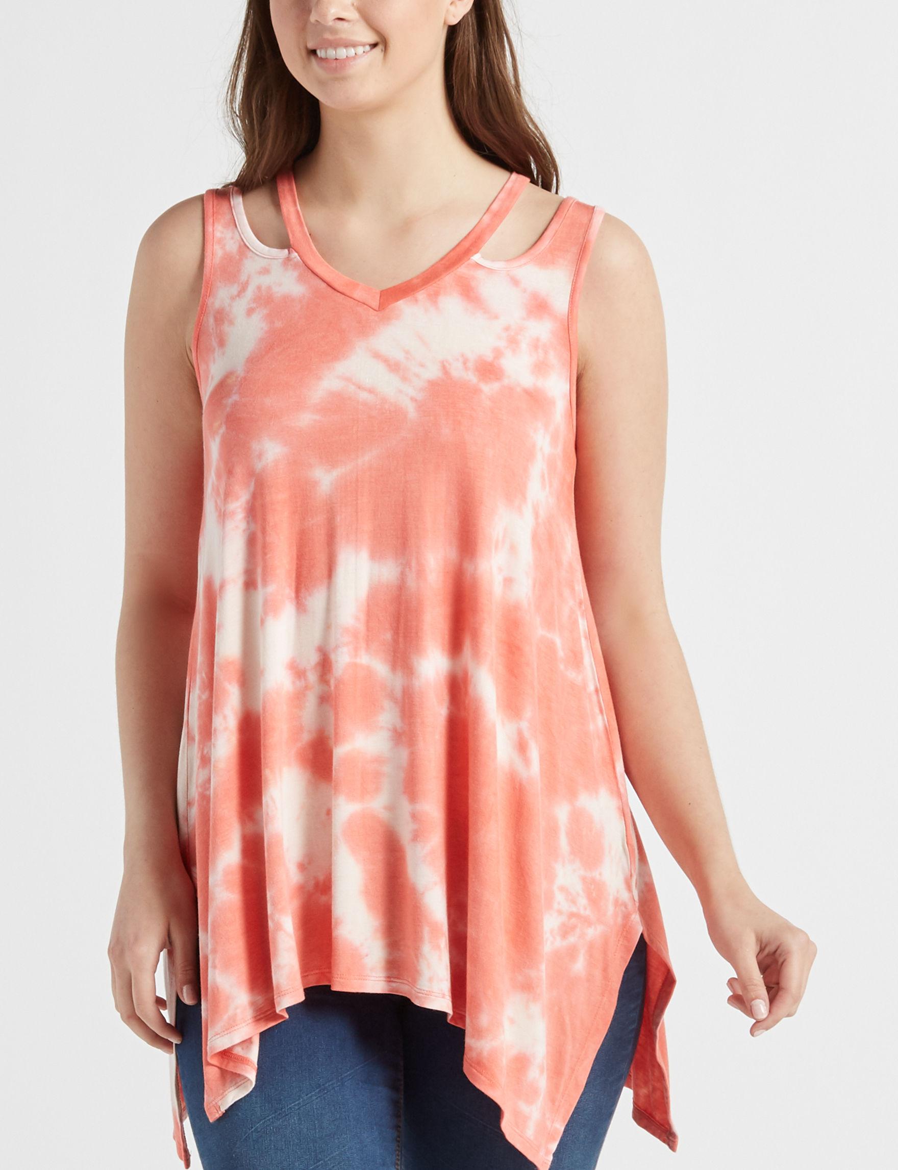 Signature Studio Orange Shirts & Blouses Tees & Tanks