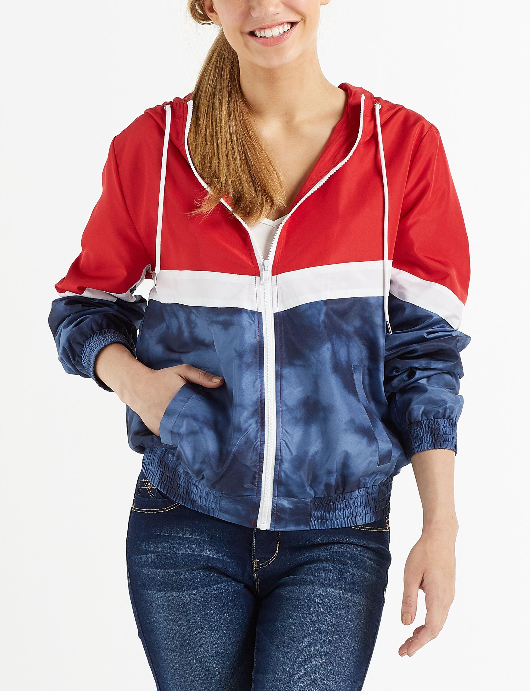 Justify Blue / White / Red Lightweight Jackets & Blazers