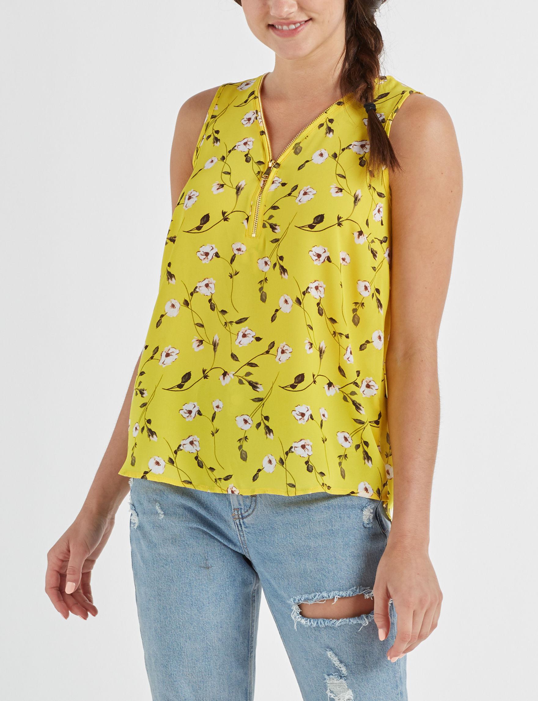 Wishful Park Yellow / Multi Shirts & Blouses