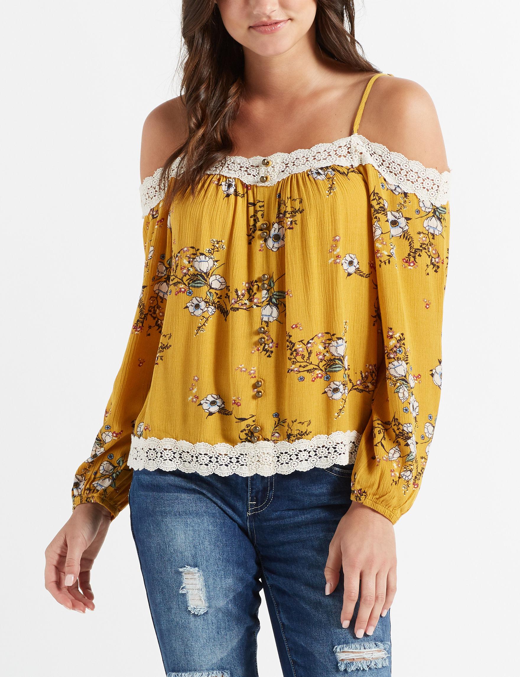 Jolt Mustard Shirts & Blouses