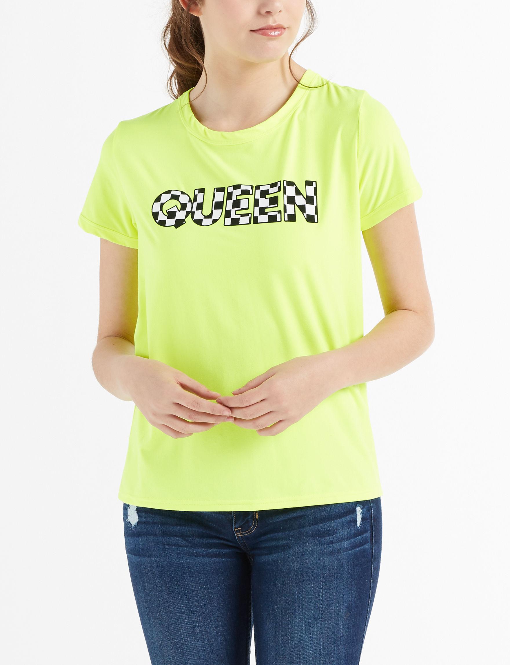 Justify Neon Yellow Tees & Tanks
