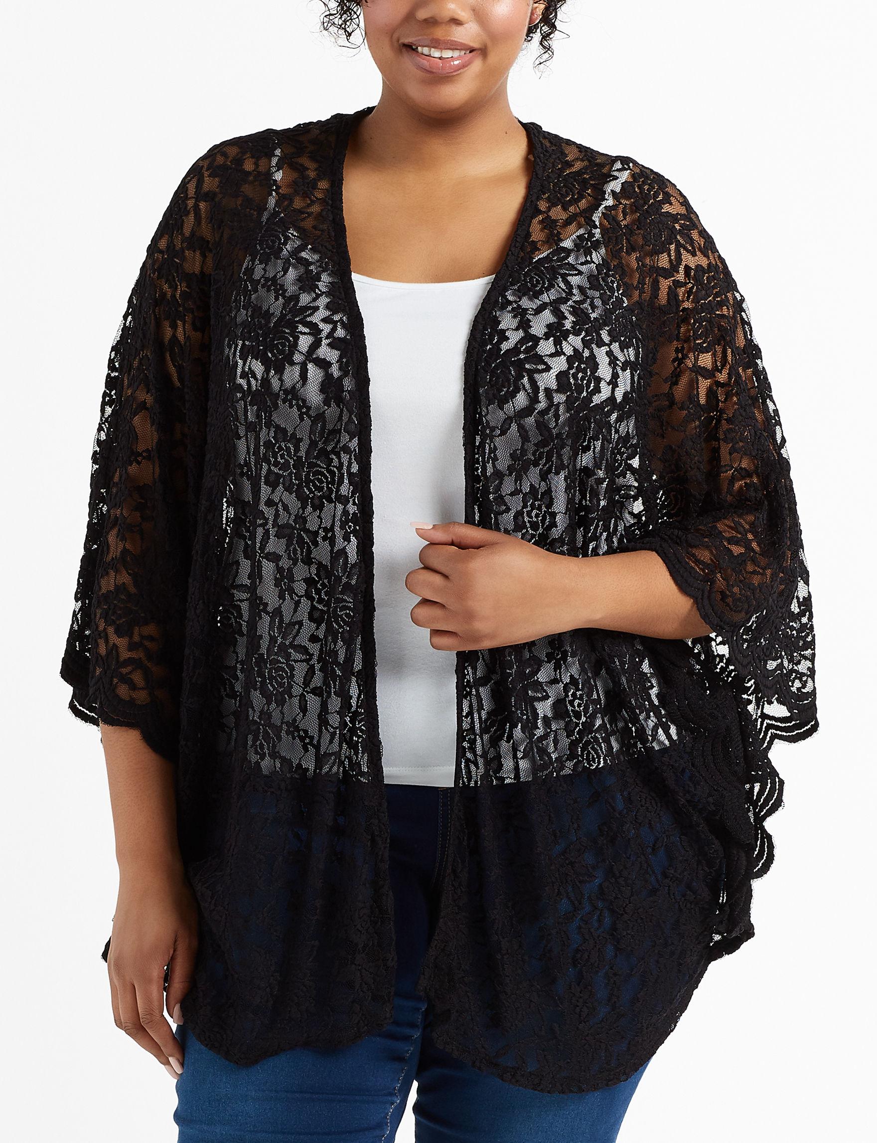 Liberty Love Black Kimonos & Toppers
