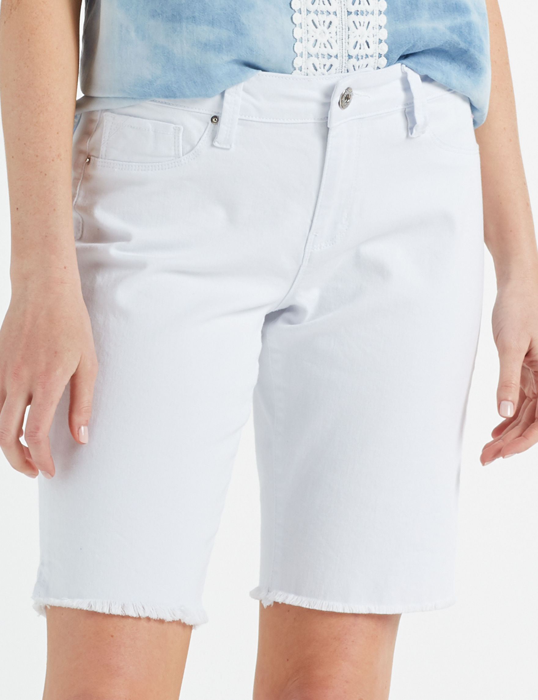 Signature Studio White Bermudas