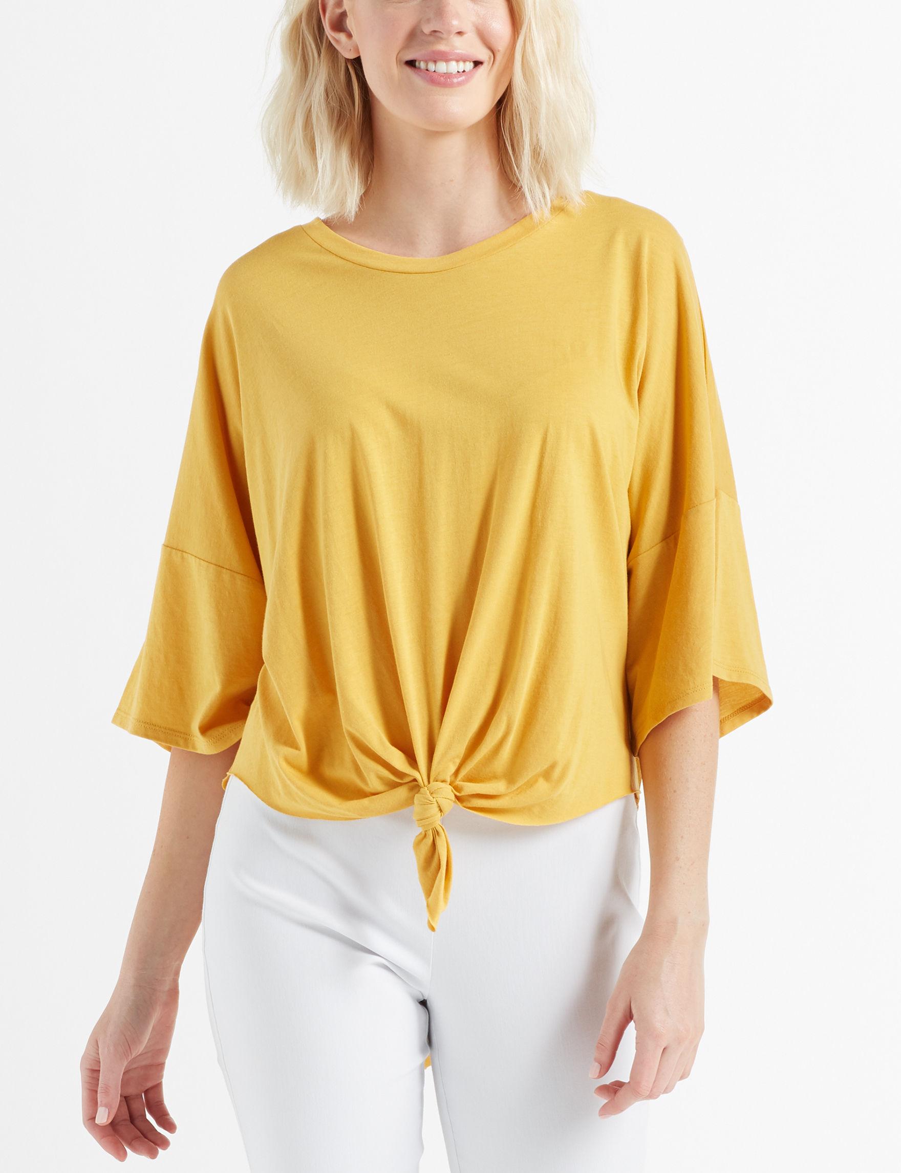 Signature Studio Yellow Shirts & Blouses