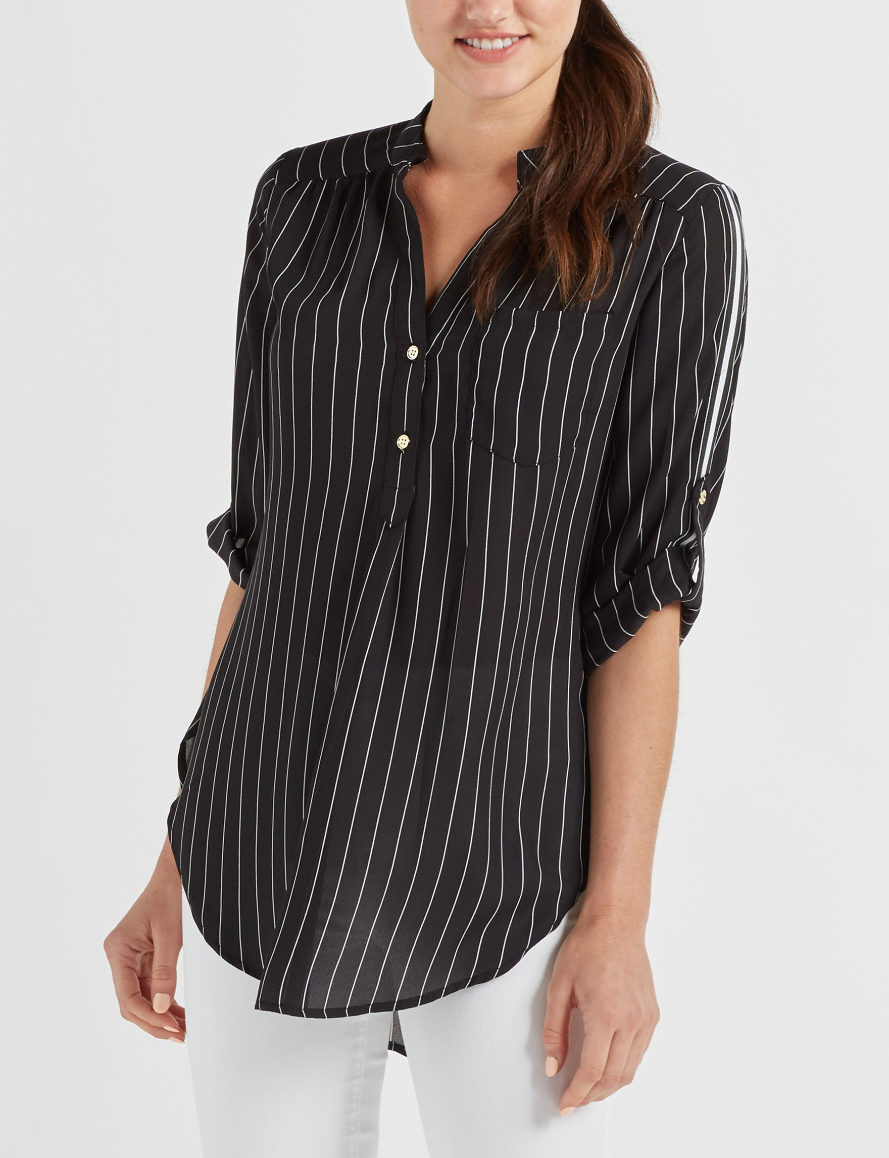 Wishful Park Black Shirts & Blouses