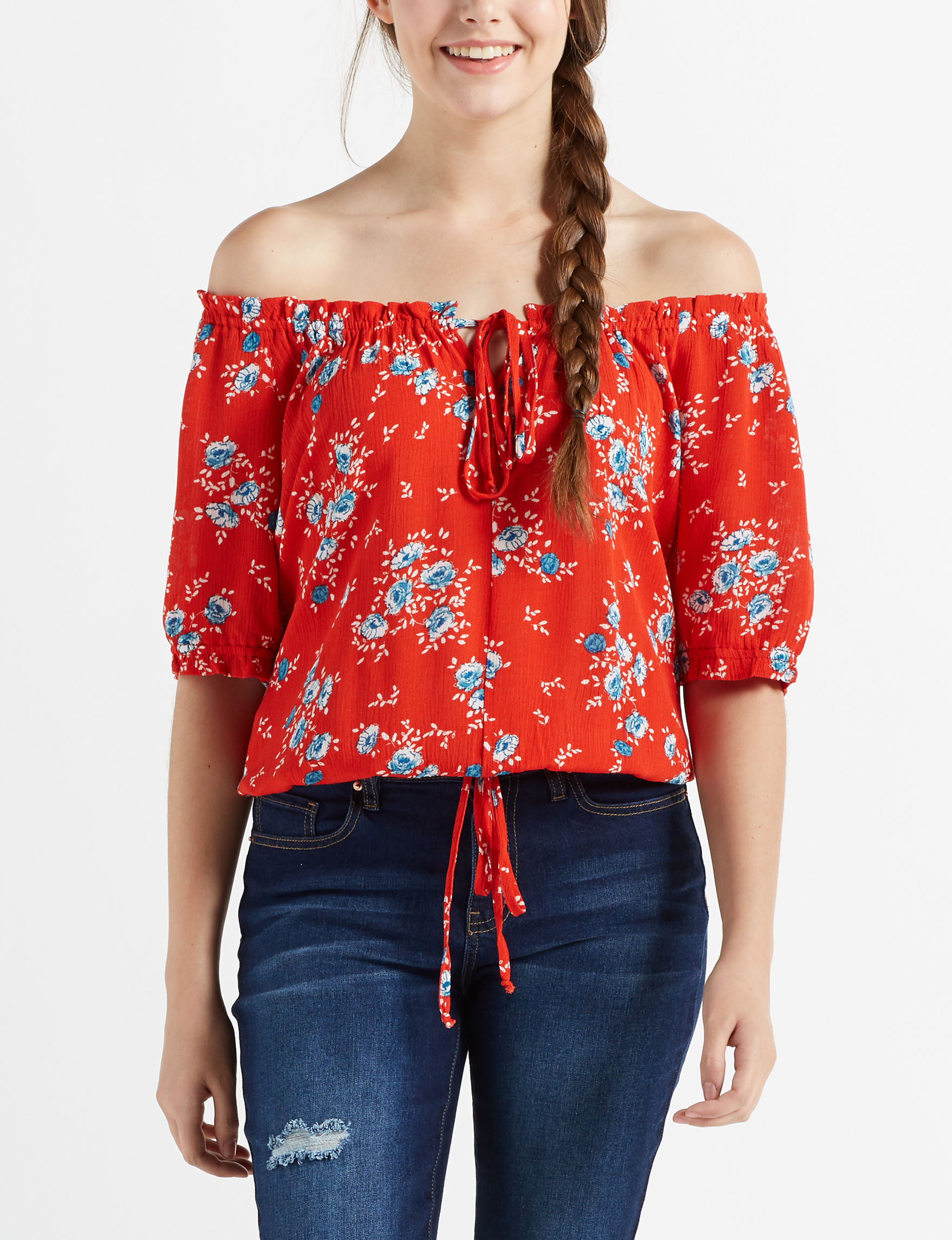 Wishful Park Red / Navy Shirts & Blouses
