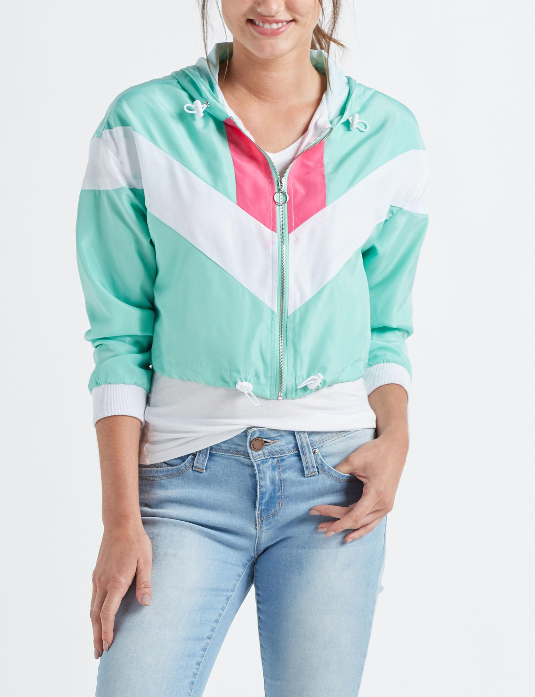 Justify Teal / Pink Lightweight Jackets & Blazers