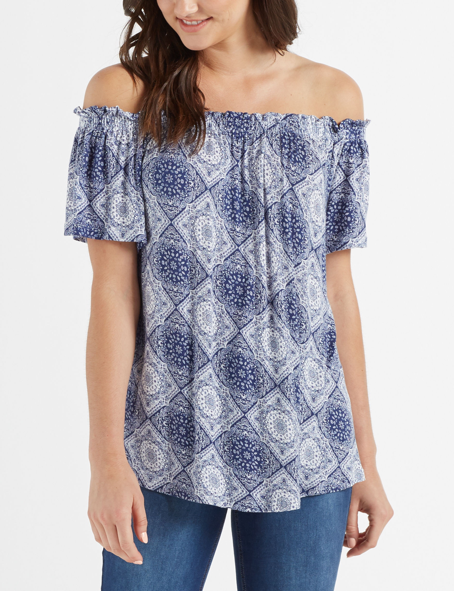Wishful Park Blue Shirts & Blouses