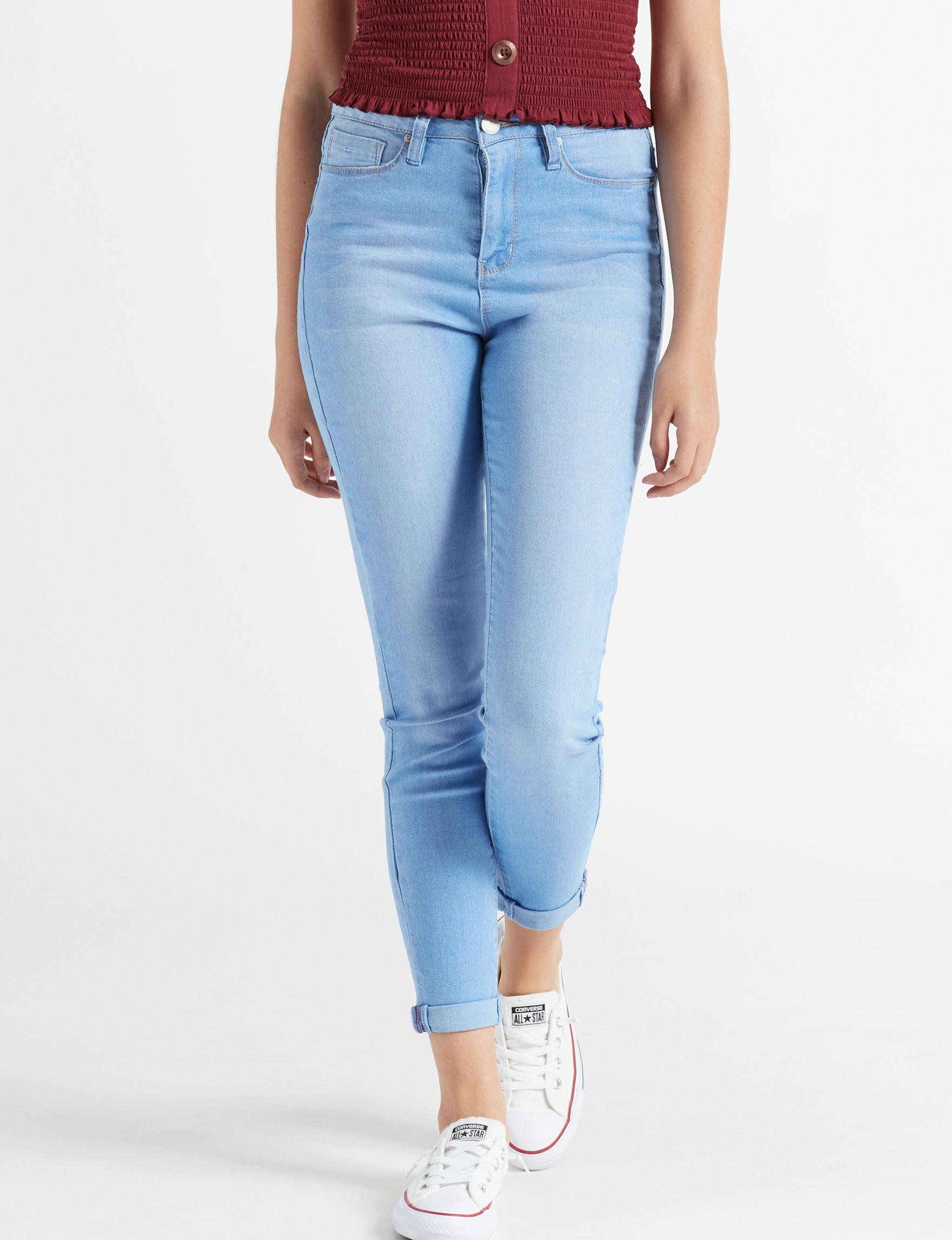 YMI Blue Curvy Shaping Skinny