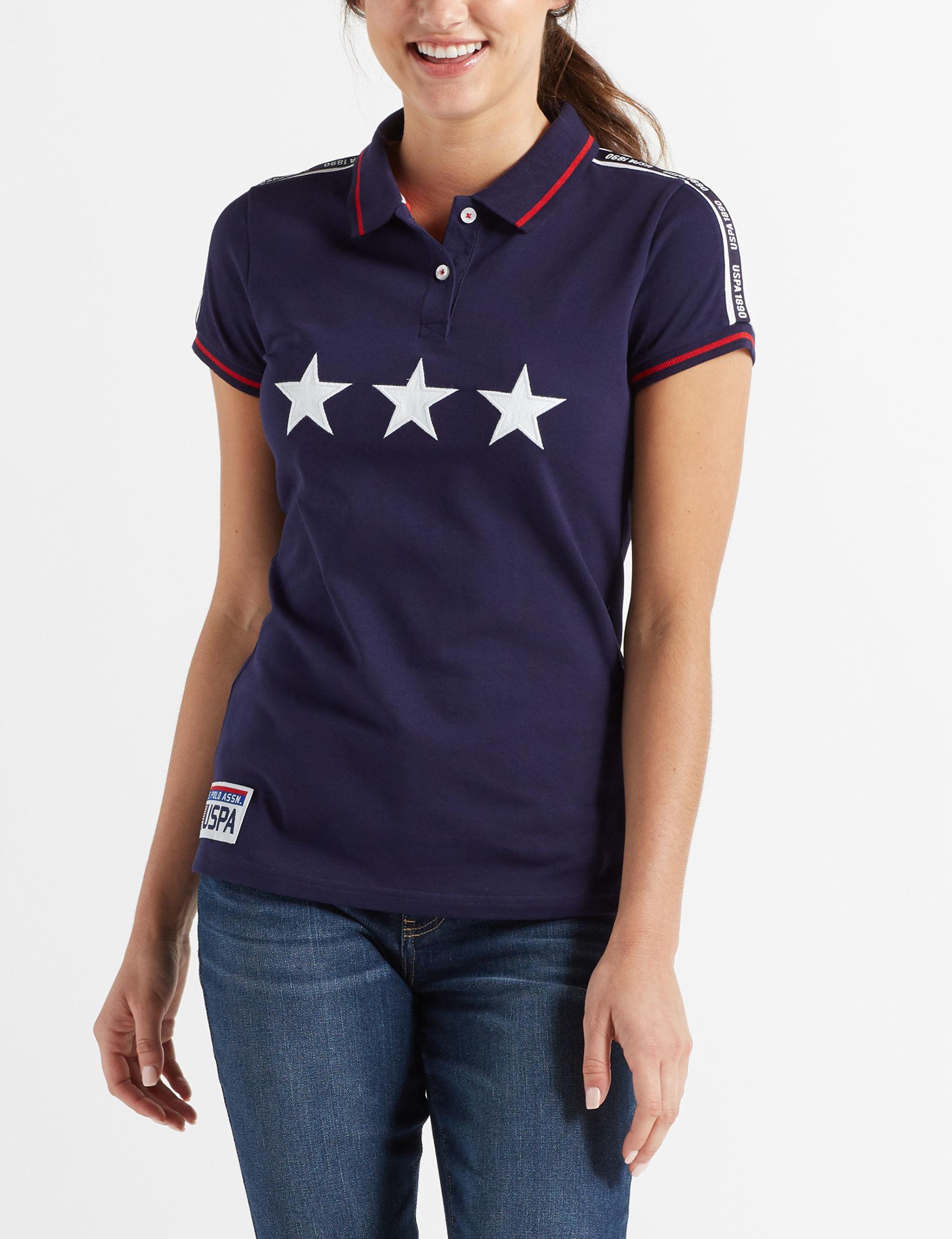 U.S. Polo Assn. Blue / White / Red Polos