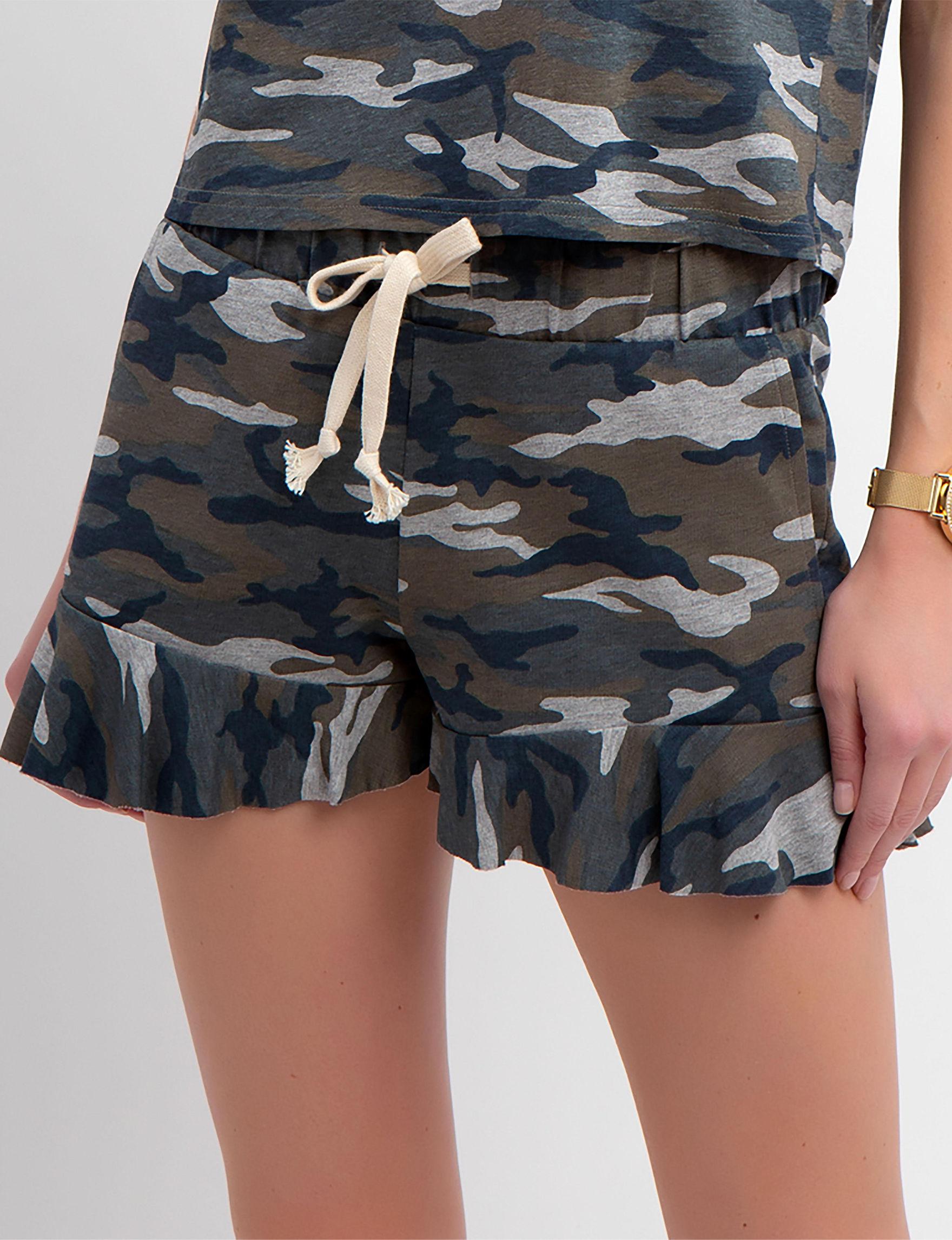 U.S. Polo Assn. Heather Grey / Camo Soft Shorts
