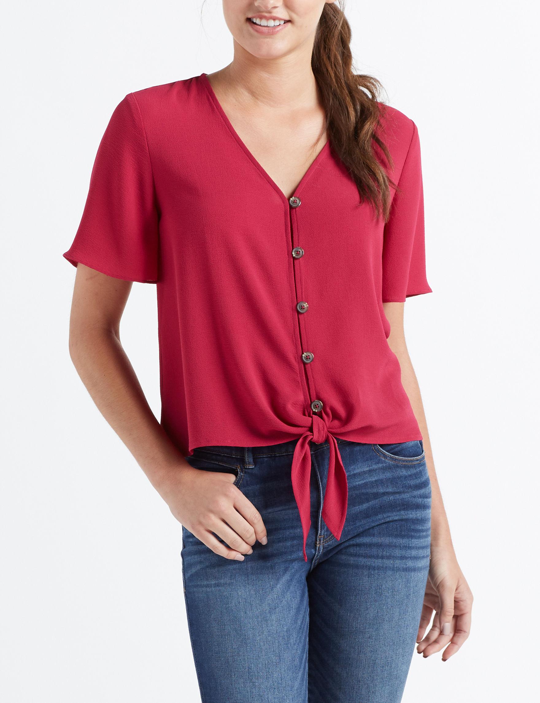 Pink Rose Sangria Shirts & Blouses