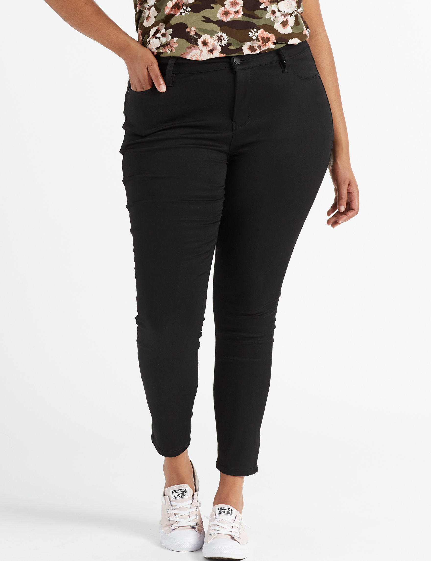 c17d2dbd2e93 YMI Juniors' Plus Size Forever Black Skinny Jeans | Stage Stores