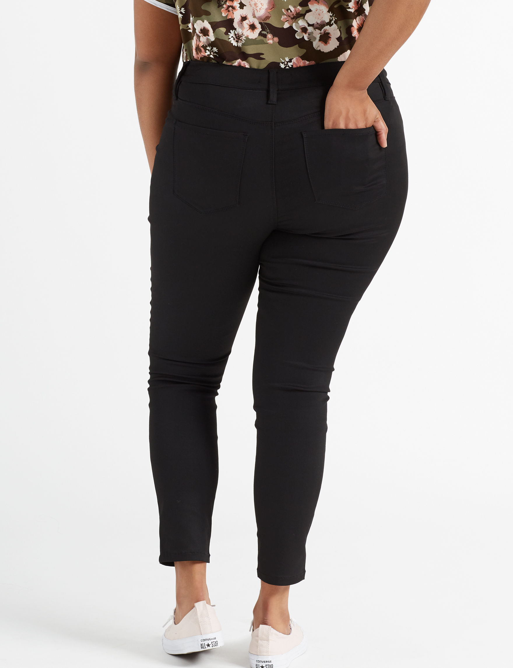 b778fe5ee9 YMI Juniors' Plus Size Forever Black Skinny Jeans | Stage Stores