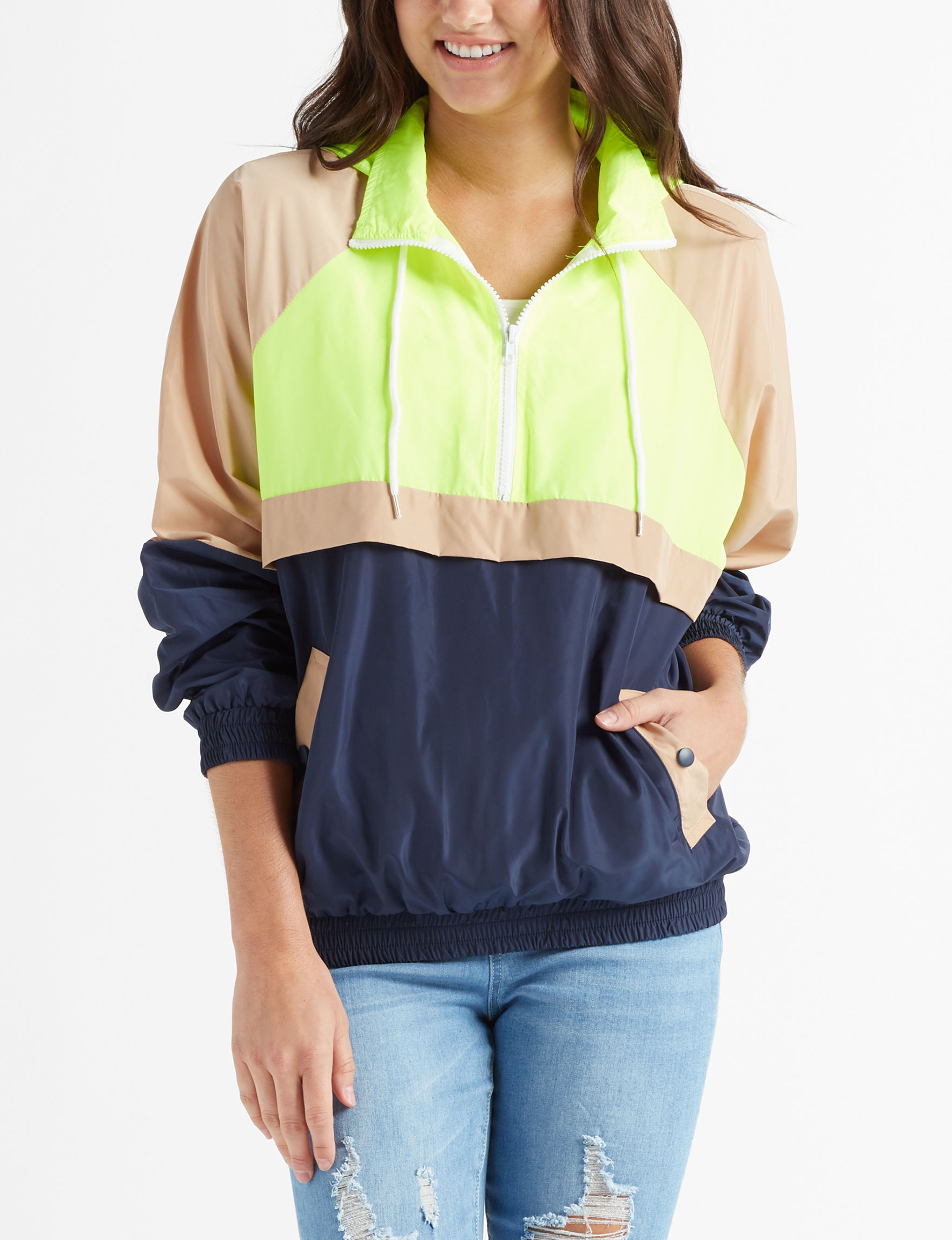 Justify Lime / Multi Lightweight Jackets & Blazers