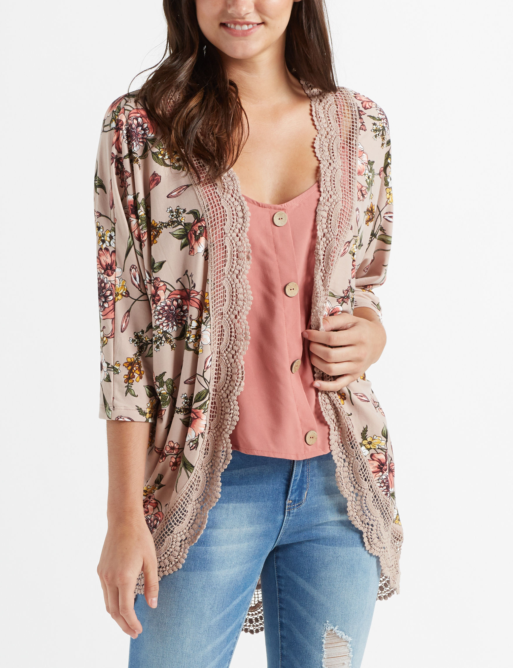Justify Taupe Kimonos & Toppers
