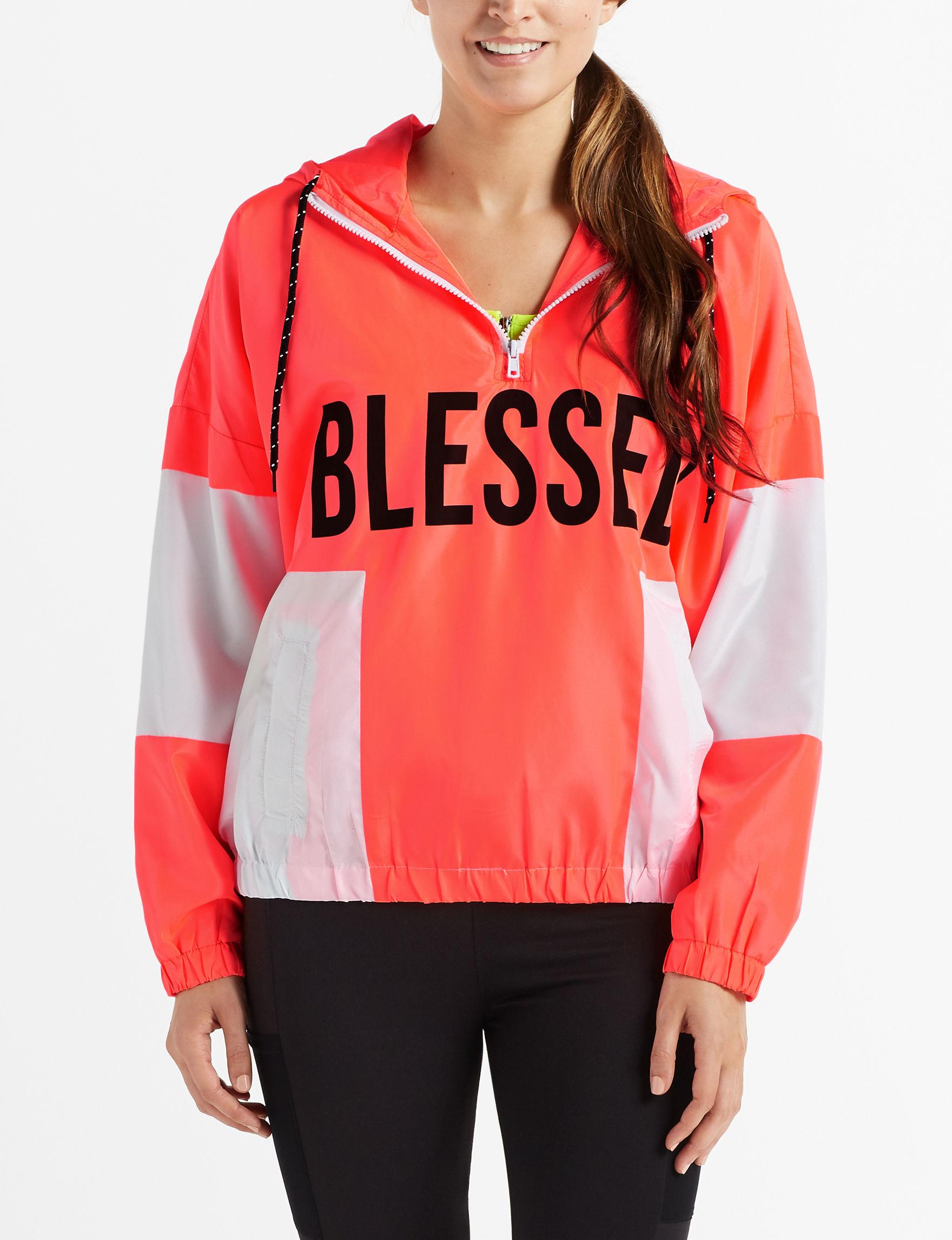Justify Coral Lightweight Jackets & Blazers
