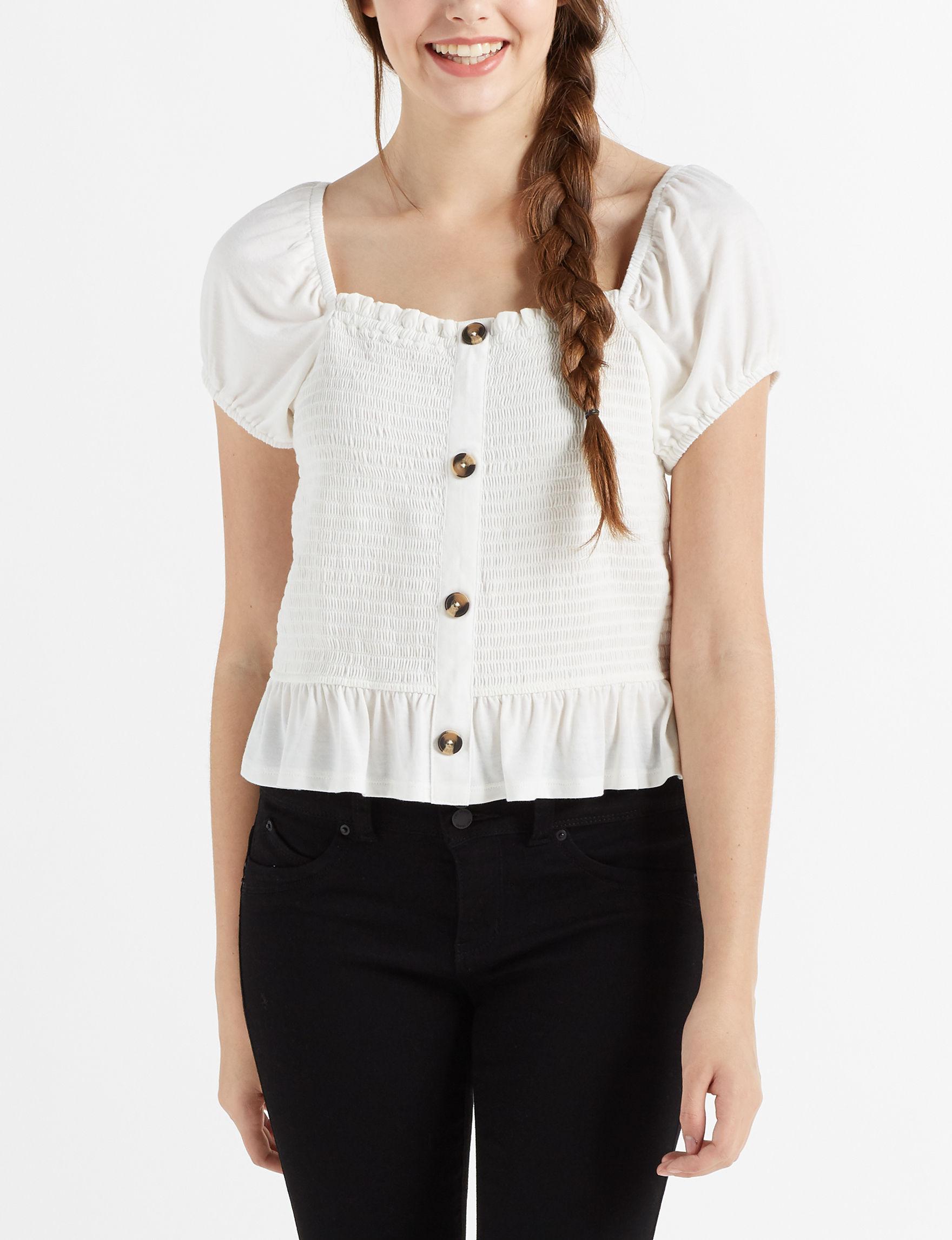 Avalon Apparel Ivory Shirts & Blouses