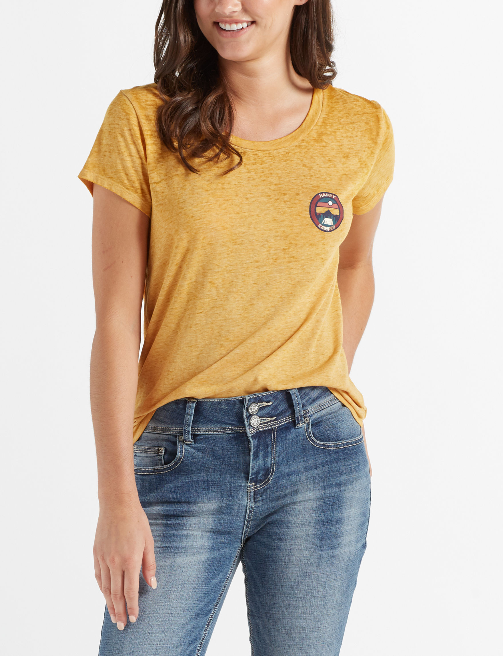 WallFlower Mustard Tees & Tanks