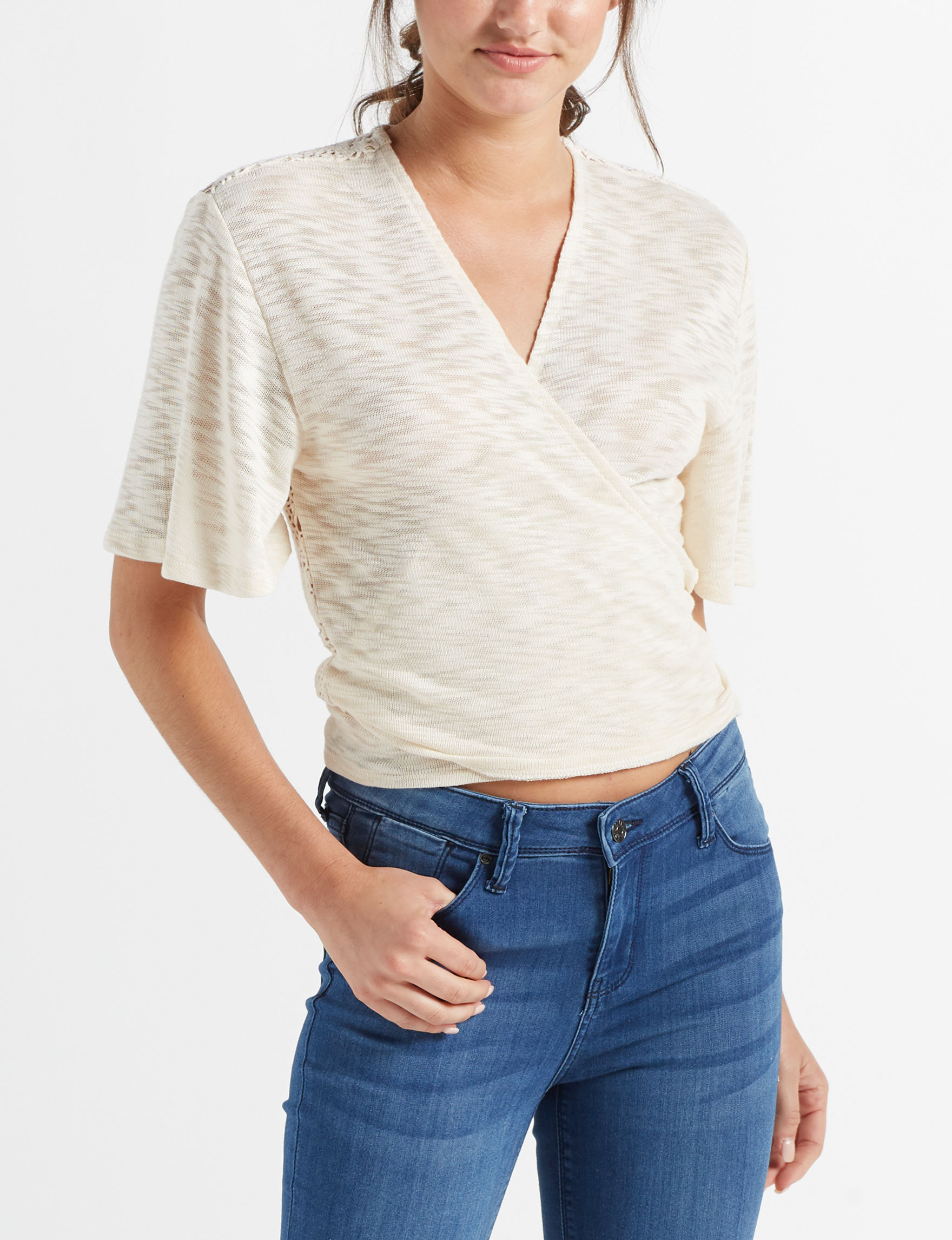 It's Our Time Natural Shirts & Blouses