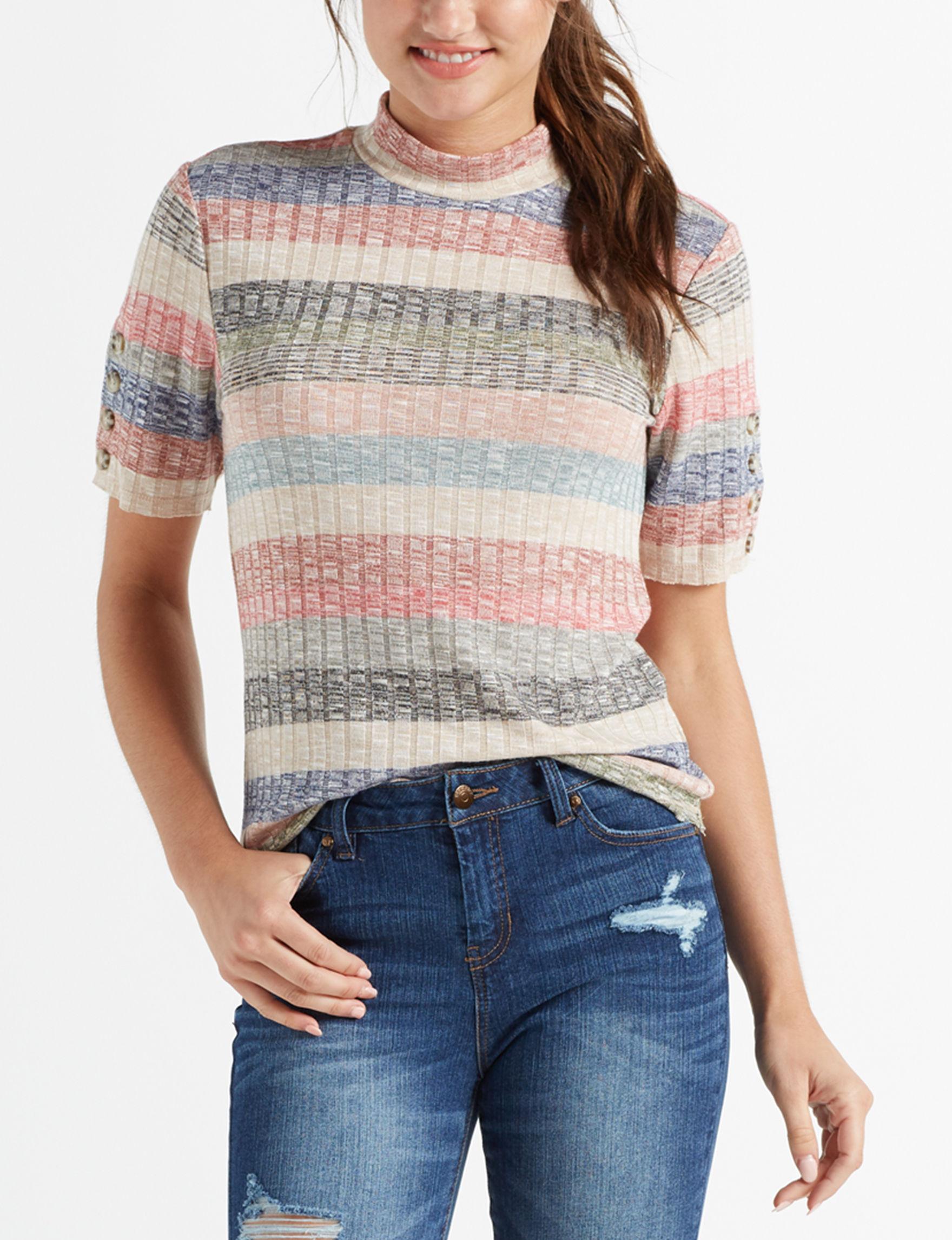 Jolt Beige / Multi Shirts & Blouses