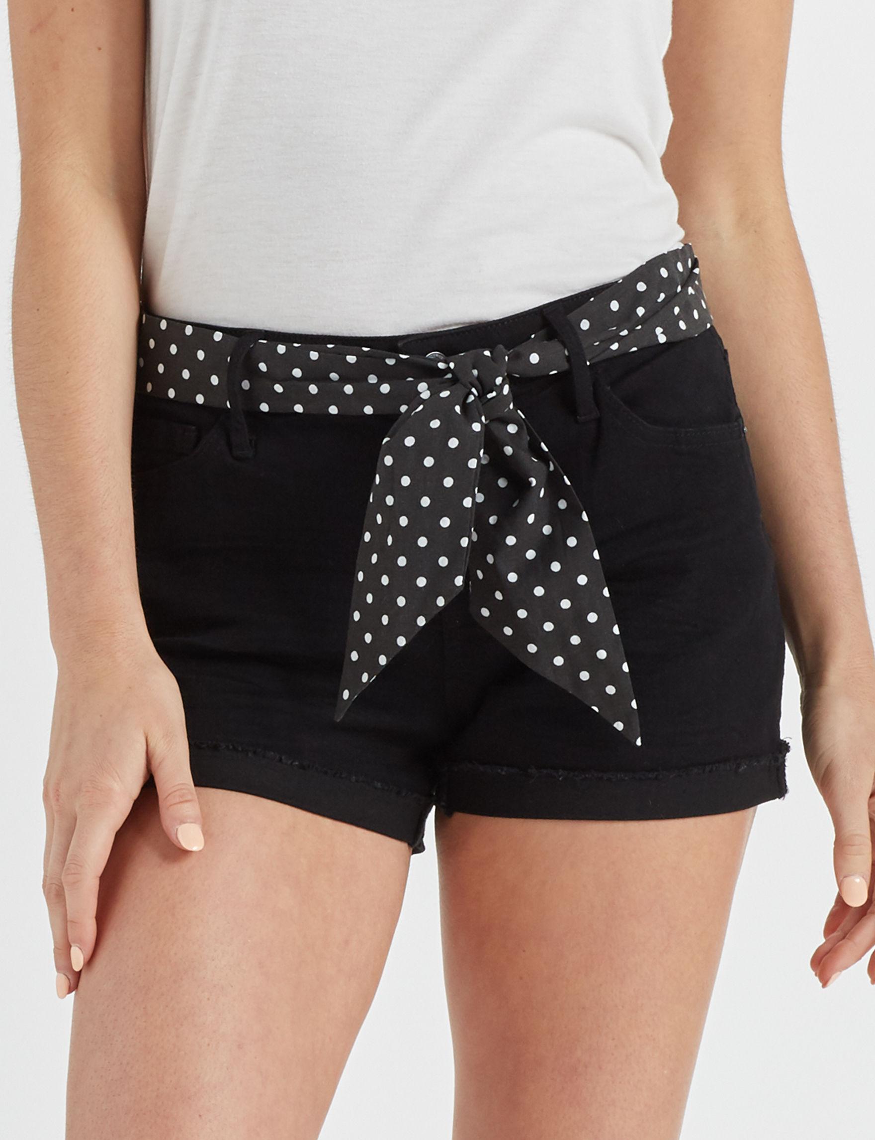 Vanilla Star Black Denim Shorts