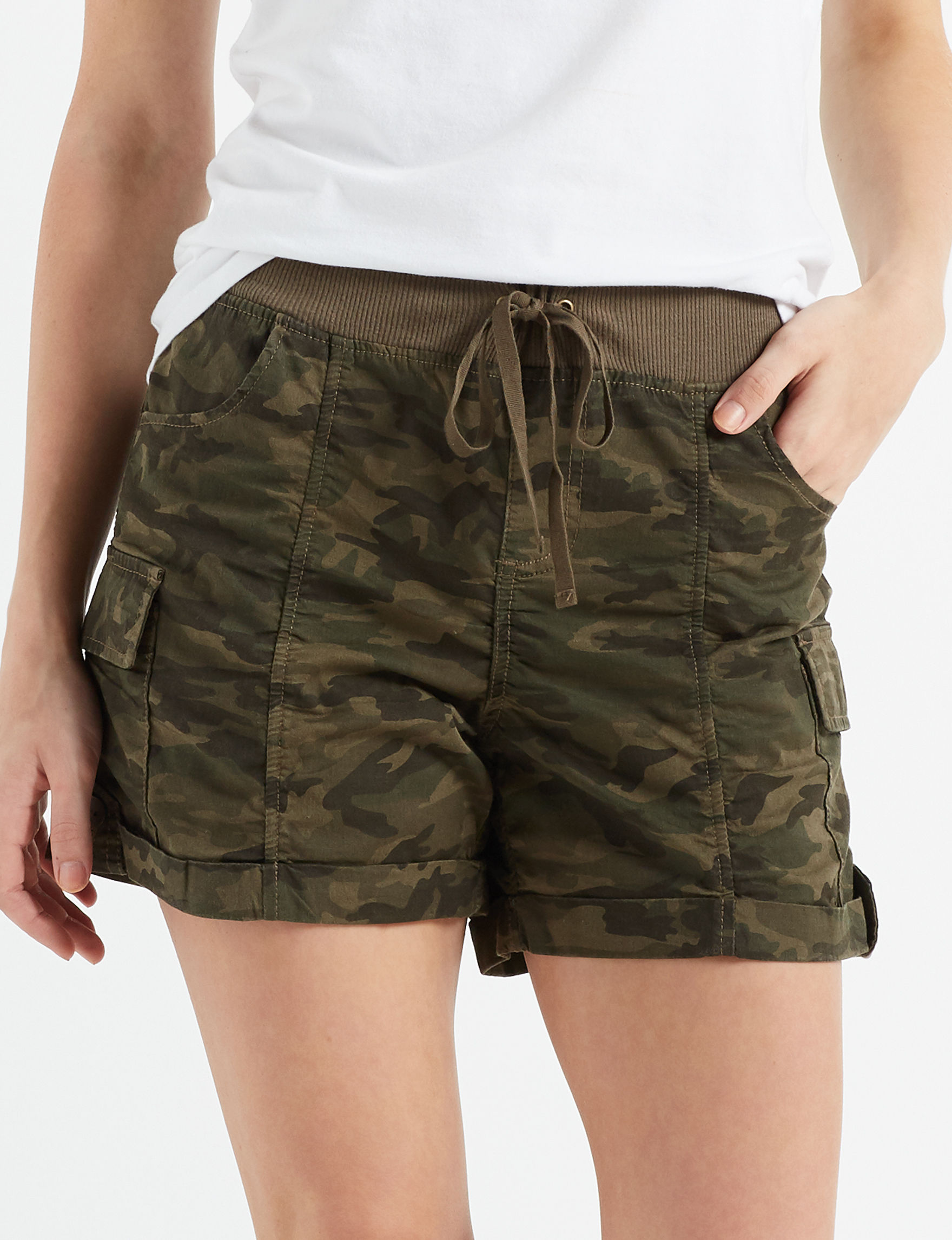 Vanilla Star Camo Cargo Soft Shorts