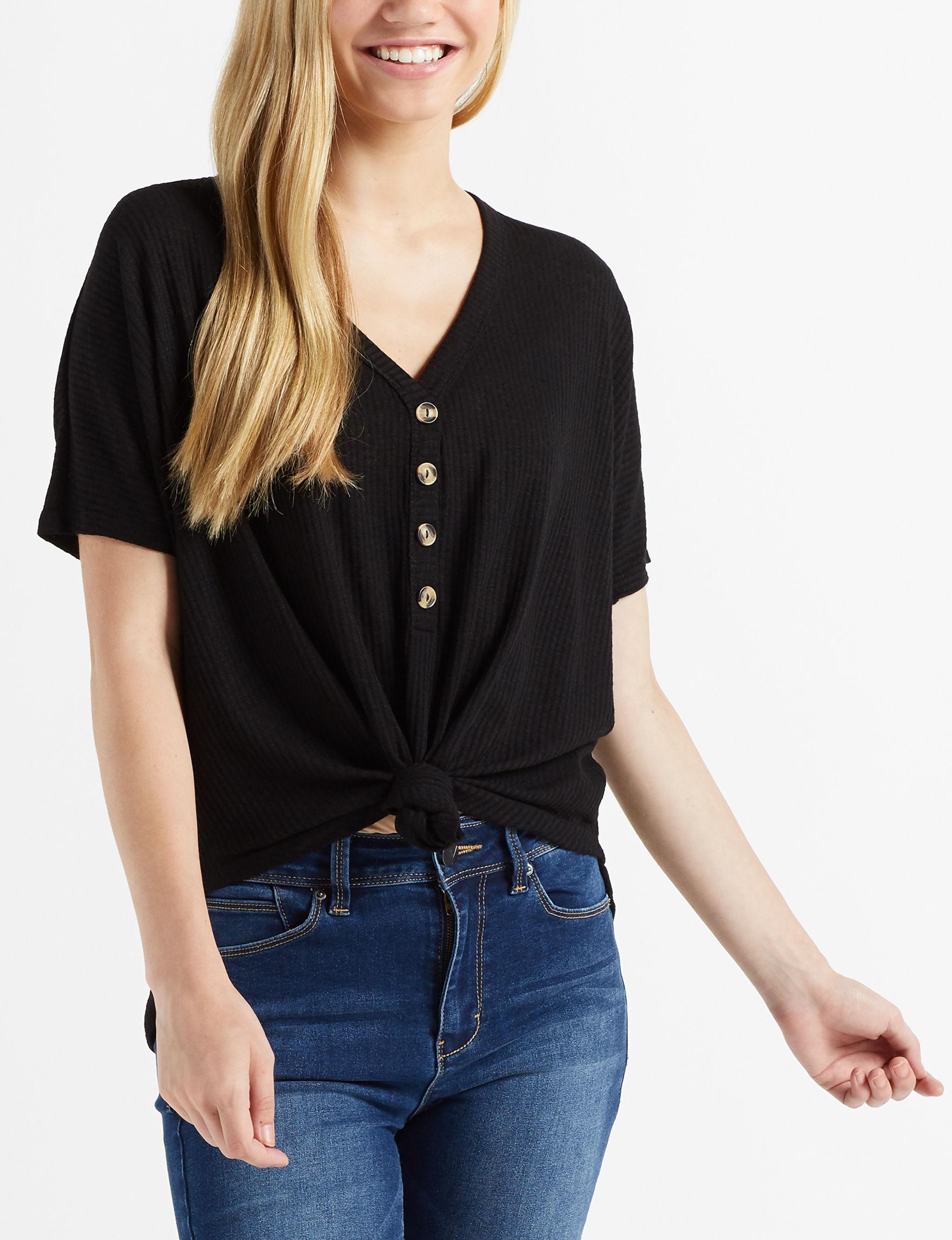 Liberty Love Black Shirts & Blouses