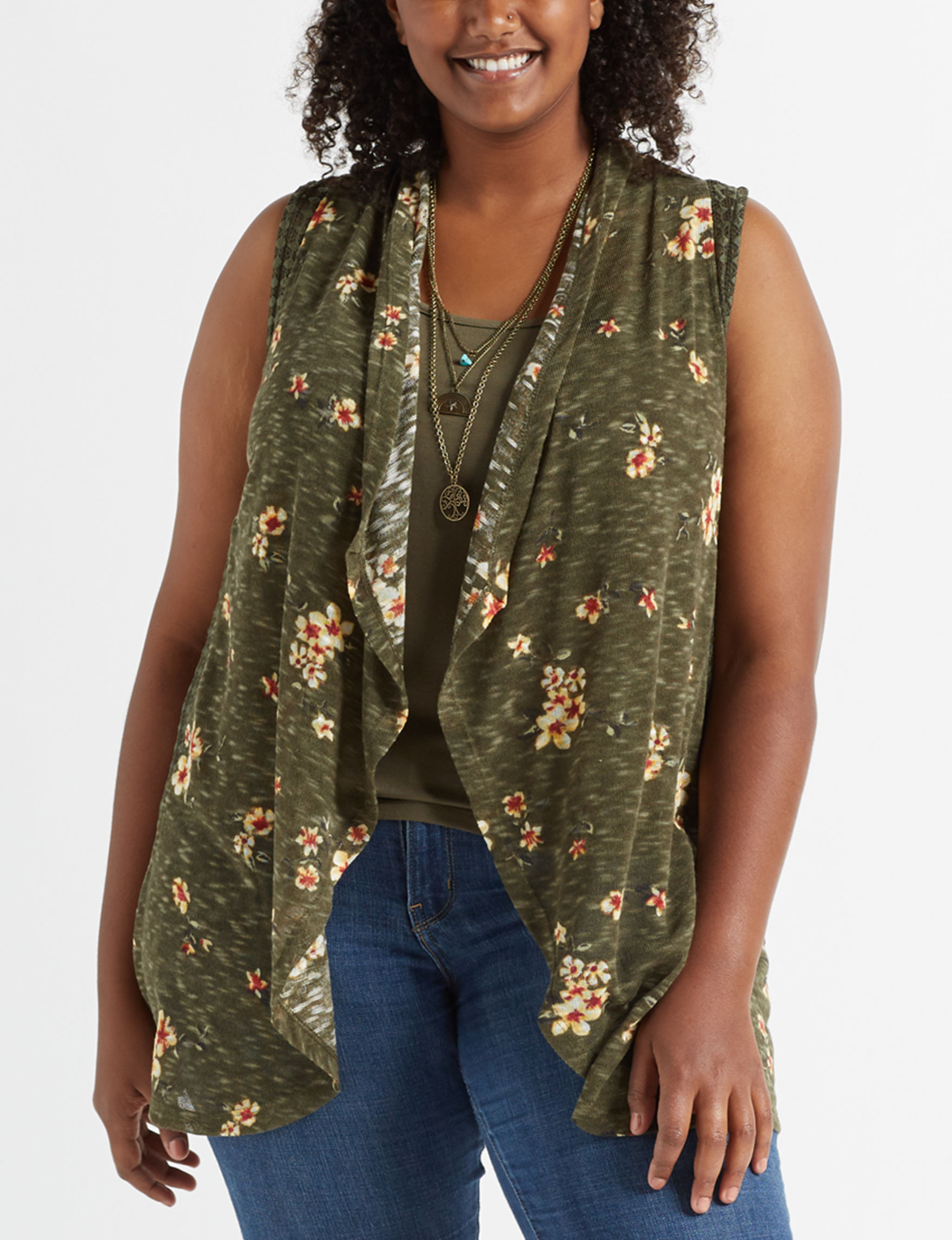 Justify Olive Kimonos & Toppers