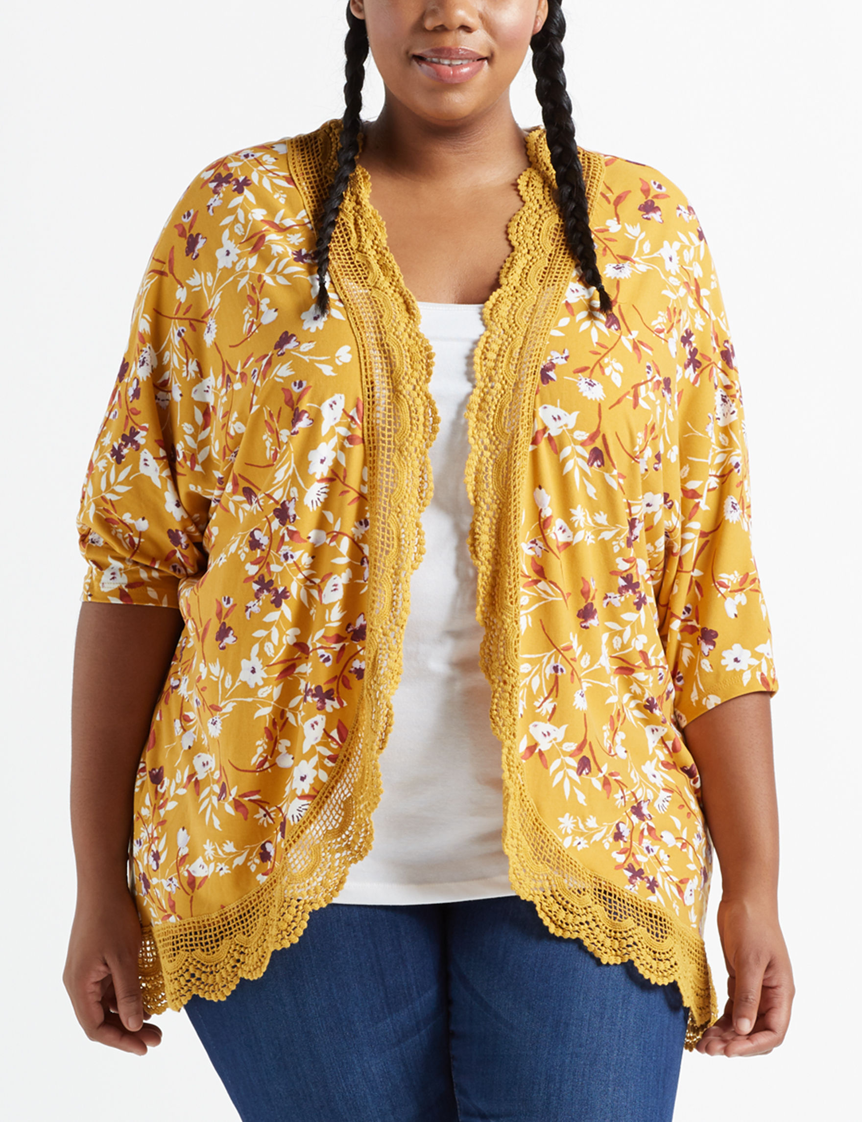 Justify Mustard Kimonos & Toppers