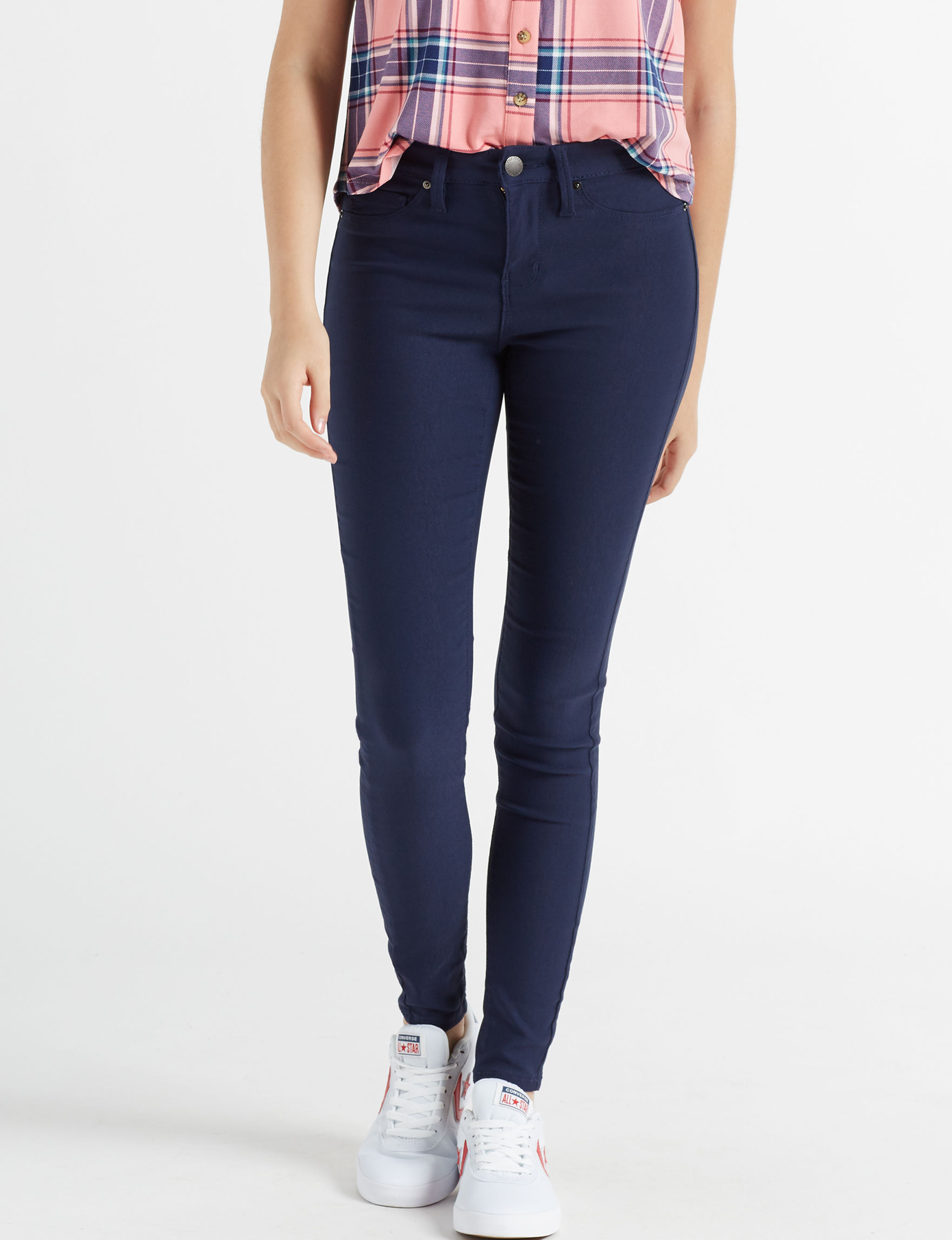 Wishful Park Navy Skinny Stretch