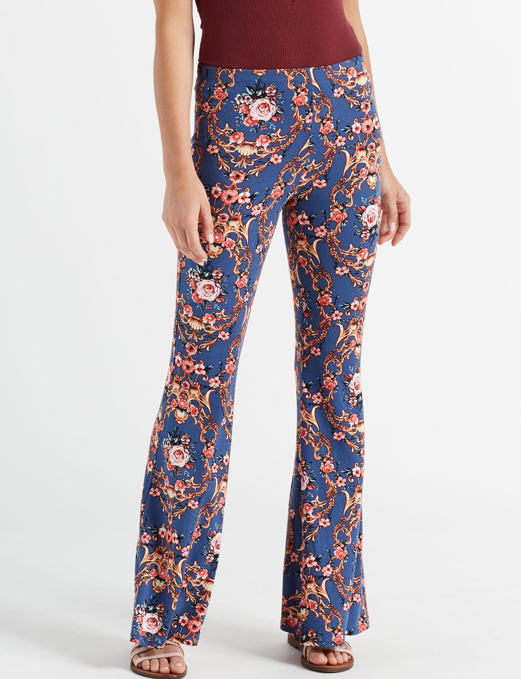 Eye Candy Denim Blue Soft Pants Stretch Wide Leg