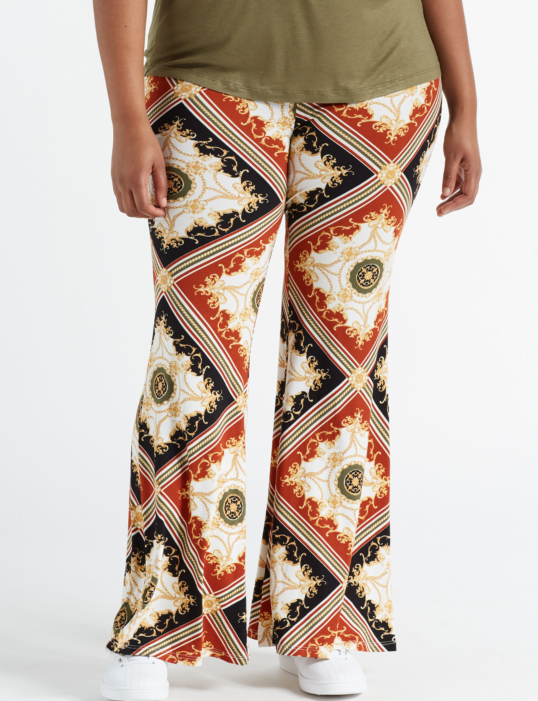 Eye Candy Black Multi Flare Soft Pants