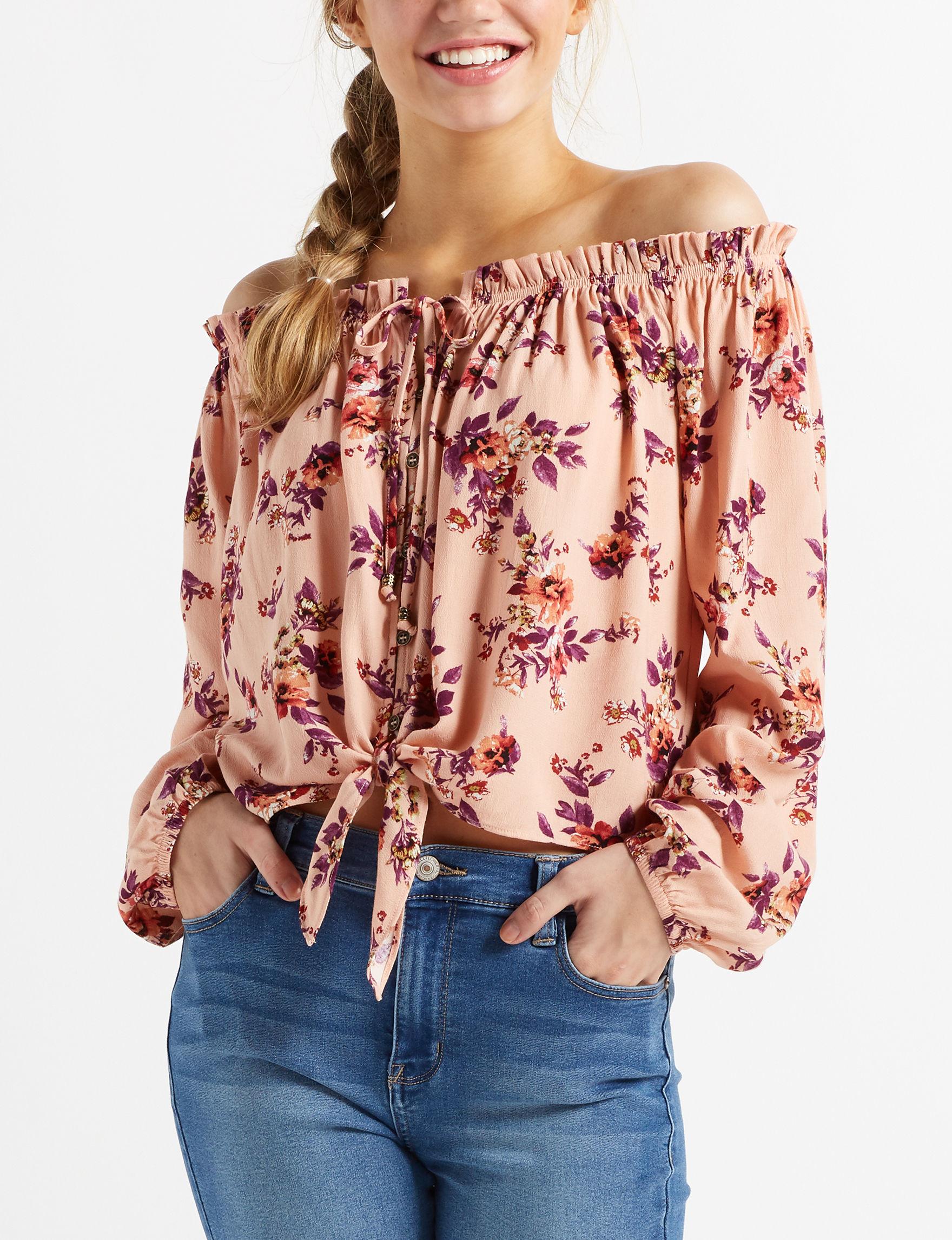 Jolt Coral Shirts & Blouses