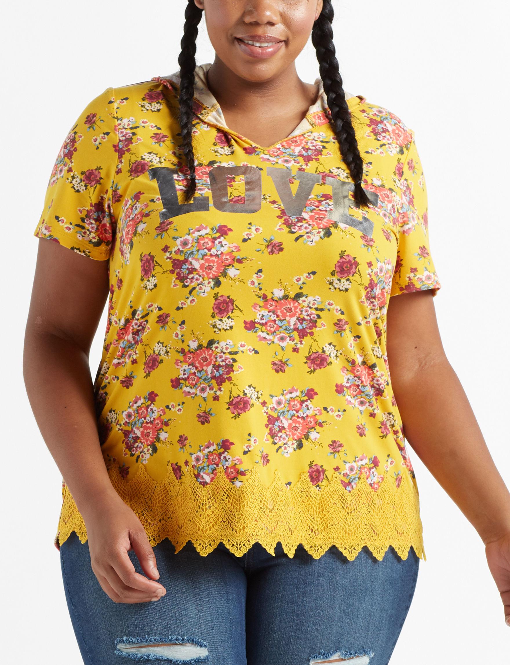 Self Esteem Mustard Shirts & Blouses