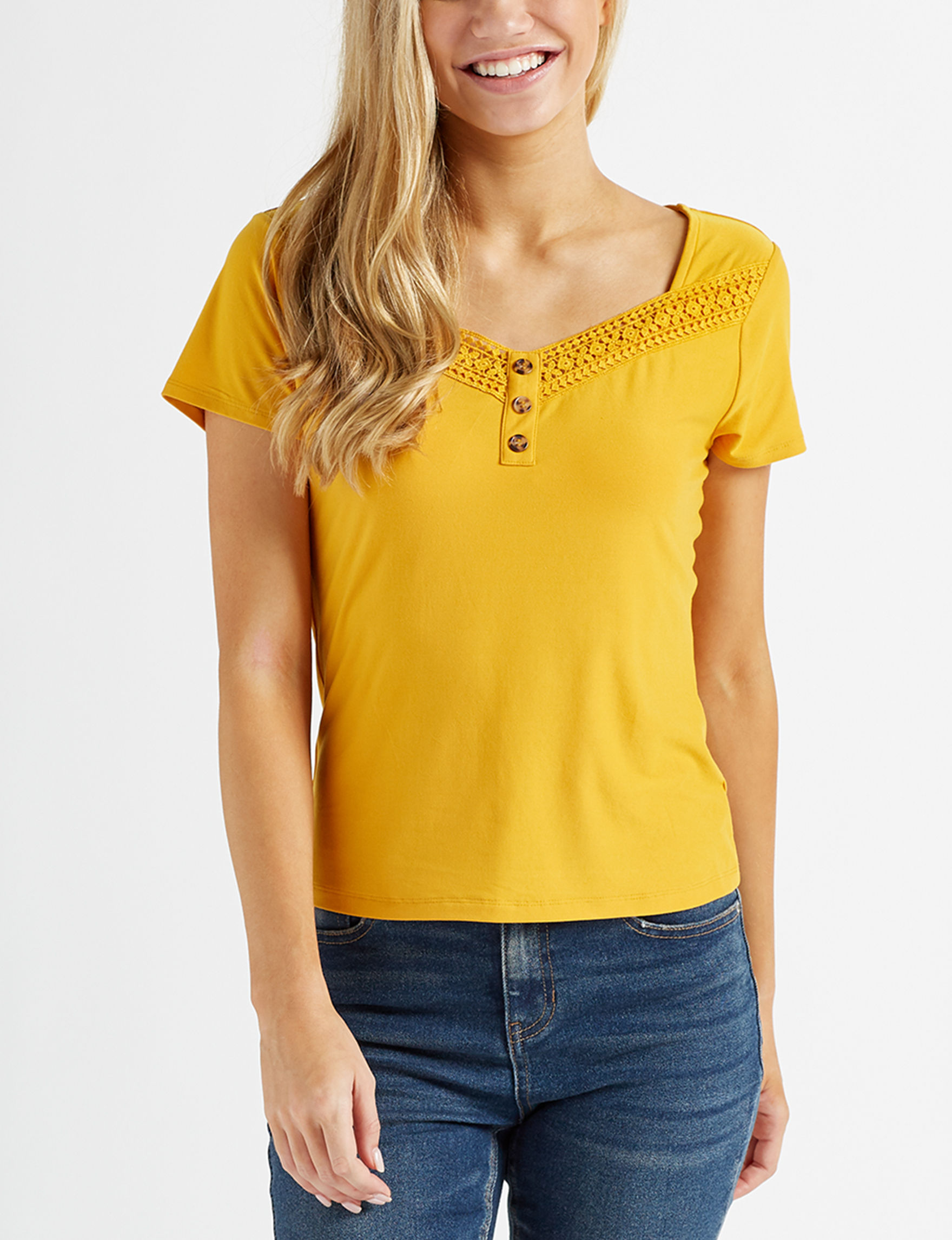 Wishful Park Yellow Shirts & Blouses