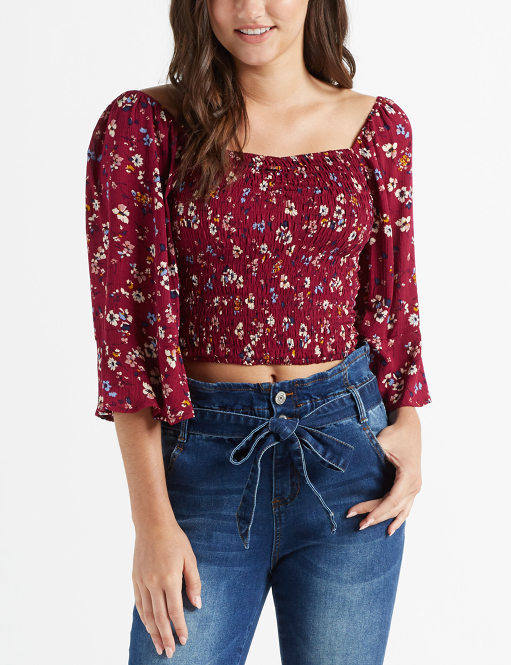 Liberty Love Wine Shirts & Blouses