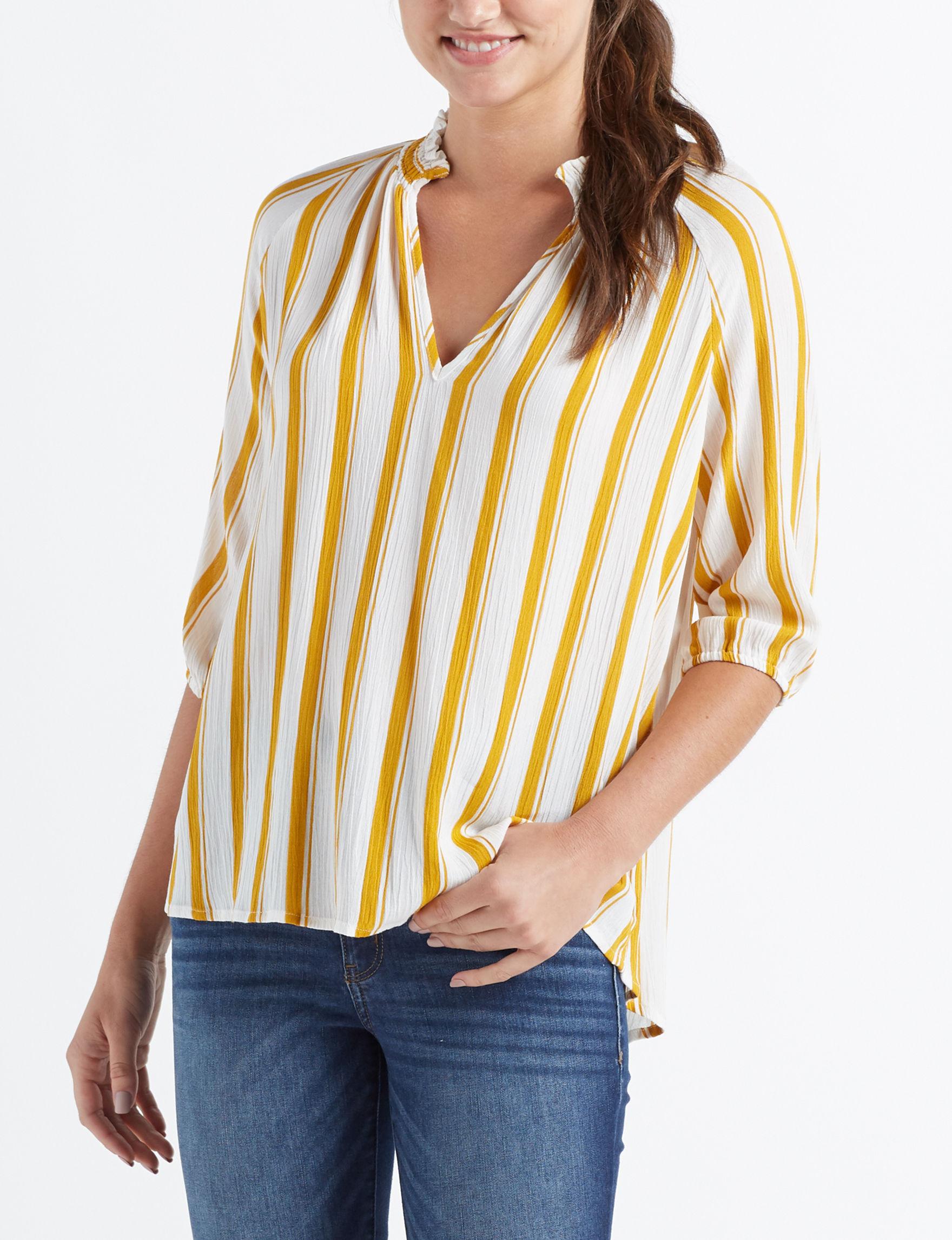 Liberty Love Mustard Shirts & Blouses
