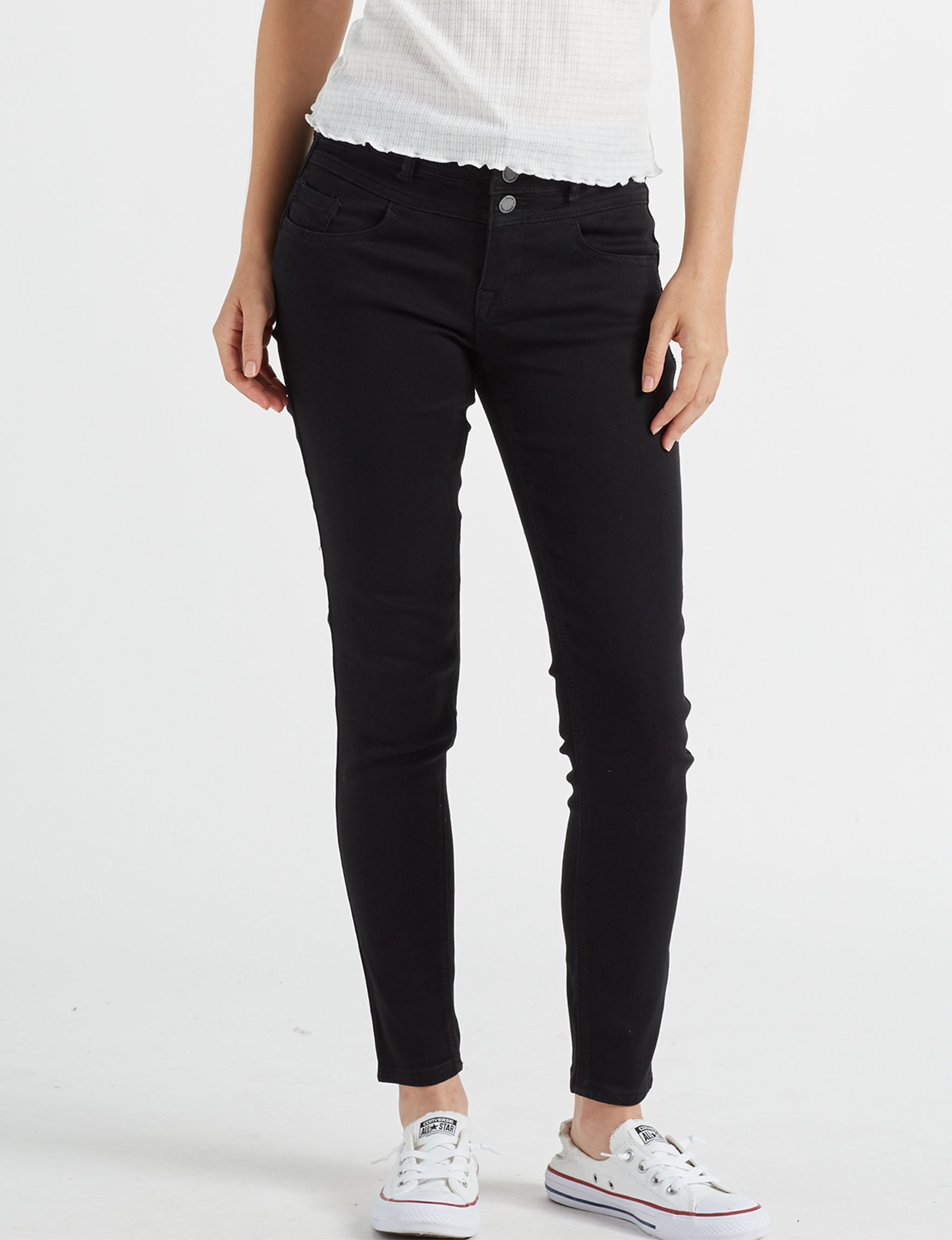 Almost Famous Black Shaping Skinny Stretch