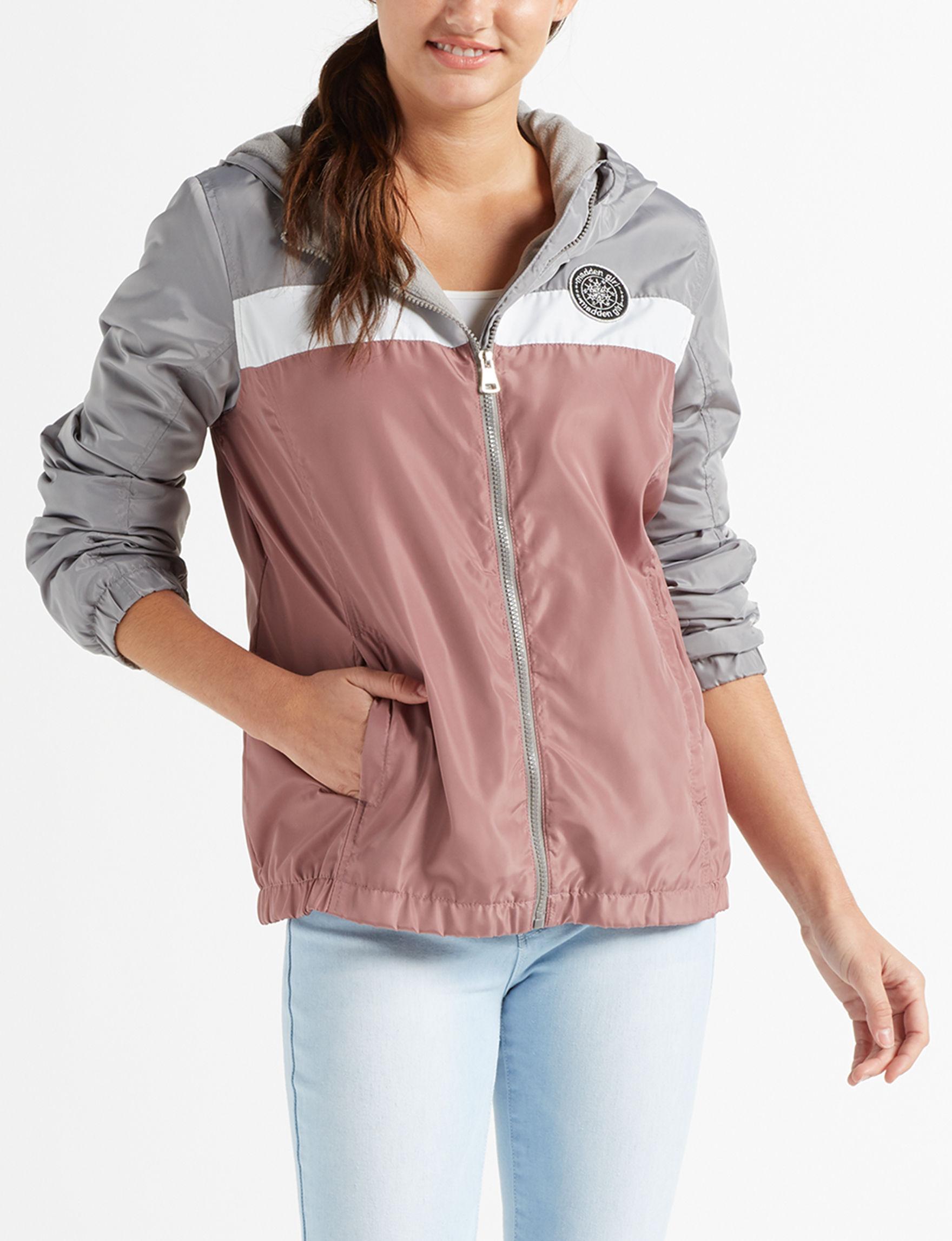 Madden Girl Pink / Multi Lightweight Jackets & Blazers