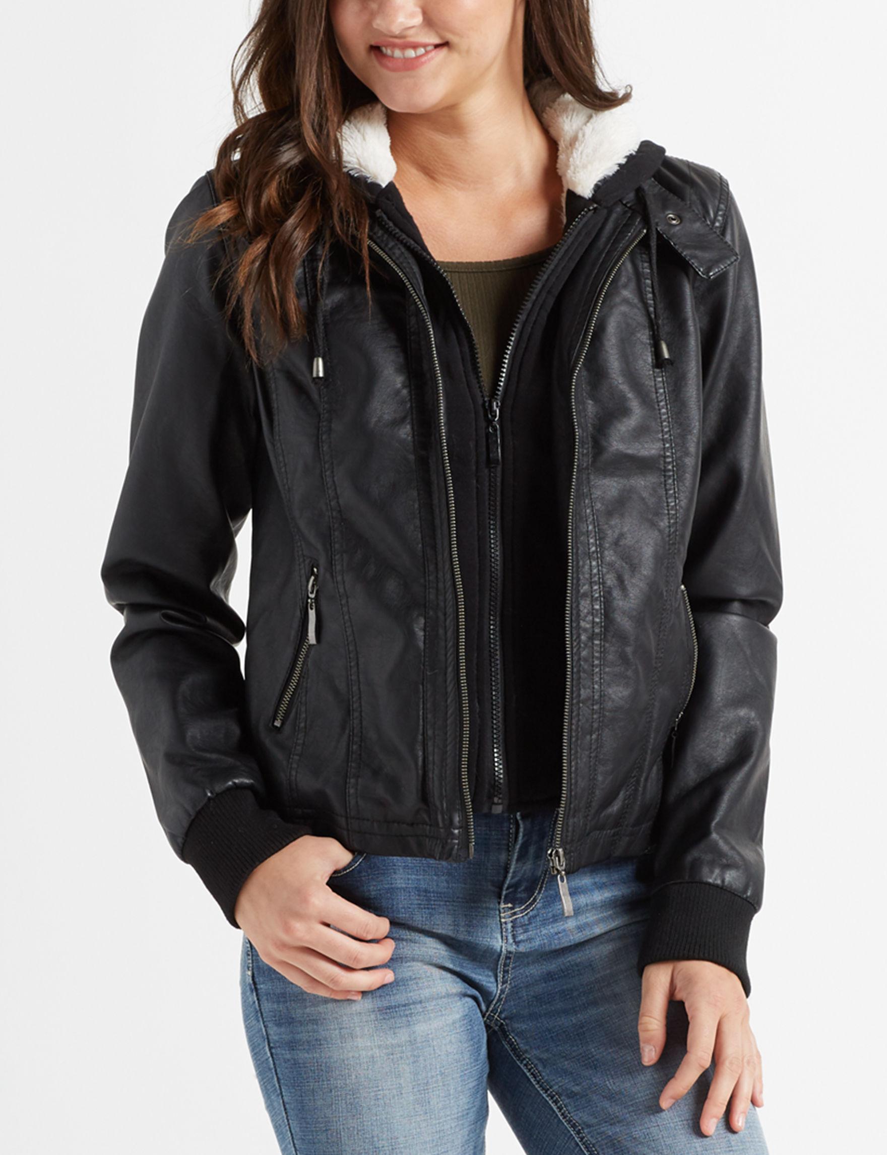 Ashley Black Bomber & Moto Jackets