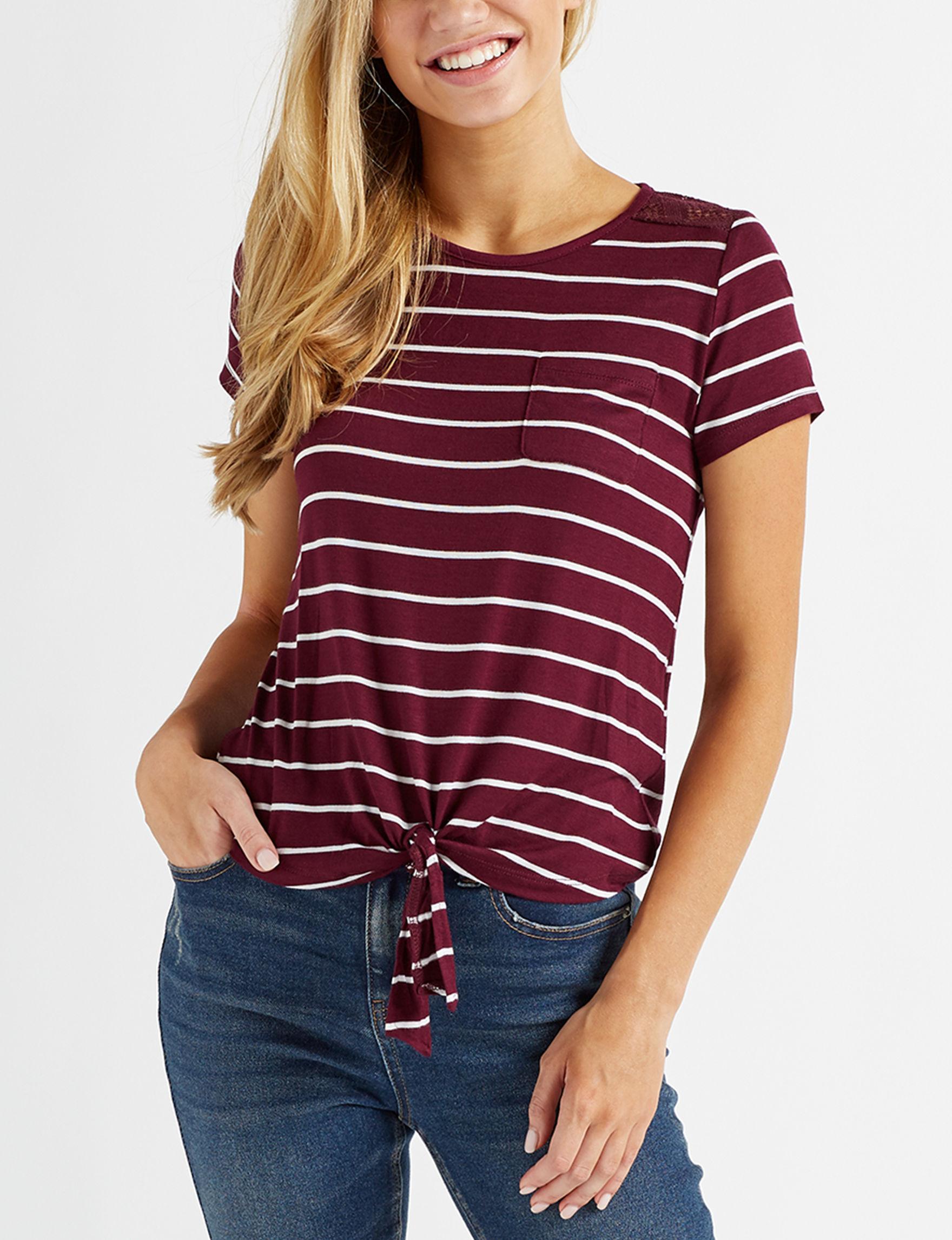 Glitz Burgundy Shirts & Blouses