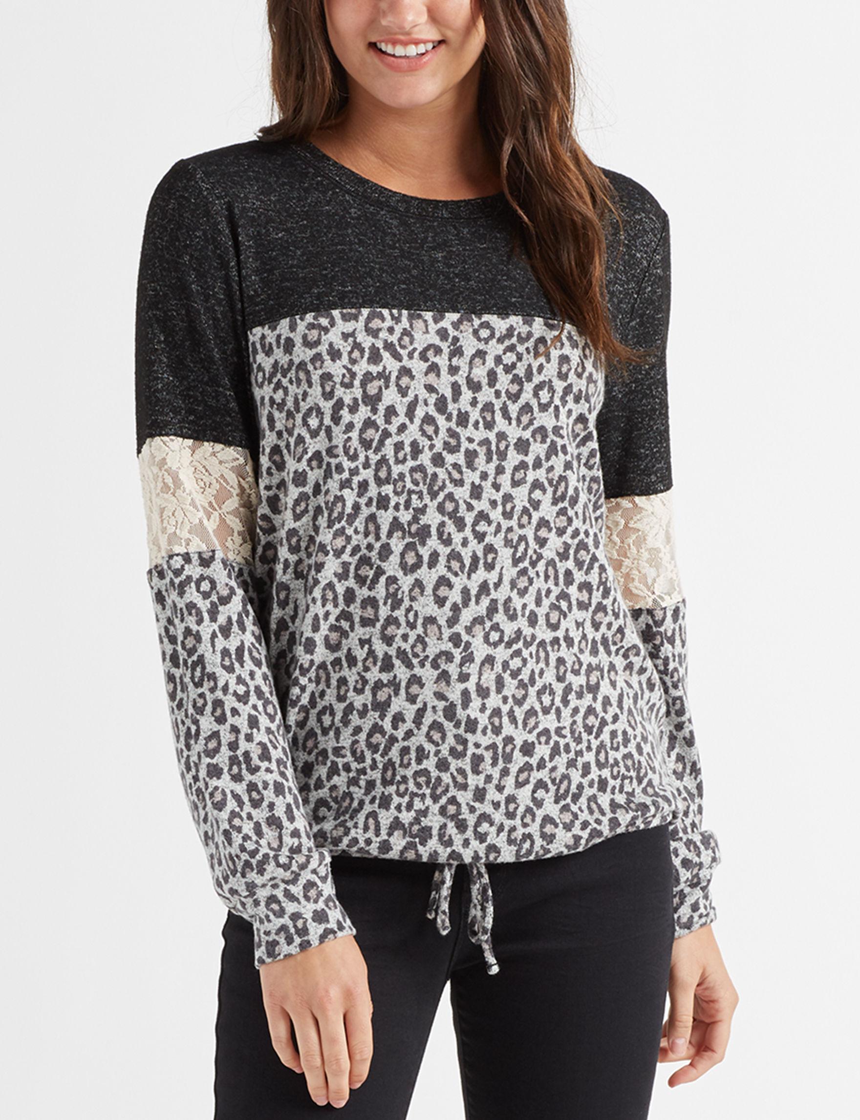 Jolt Black / Cheetah Shirts & Blouses