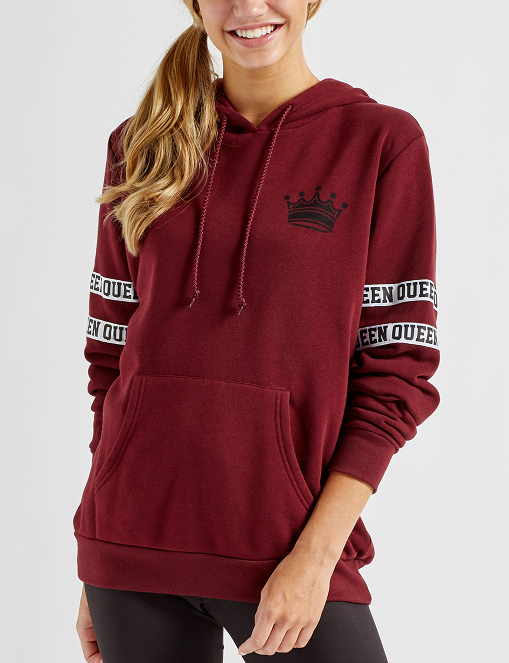 Justify Burgundy Pull-overs