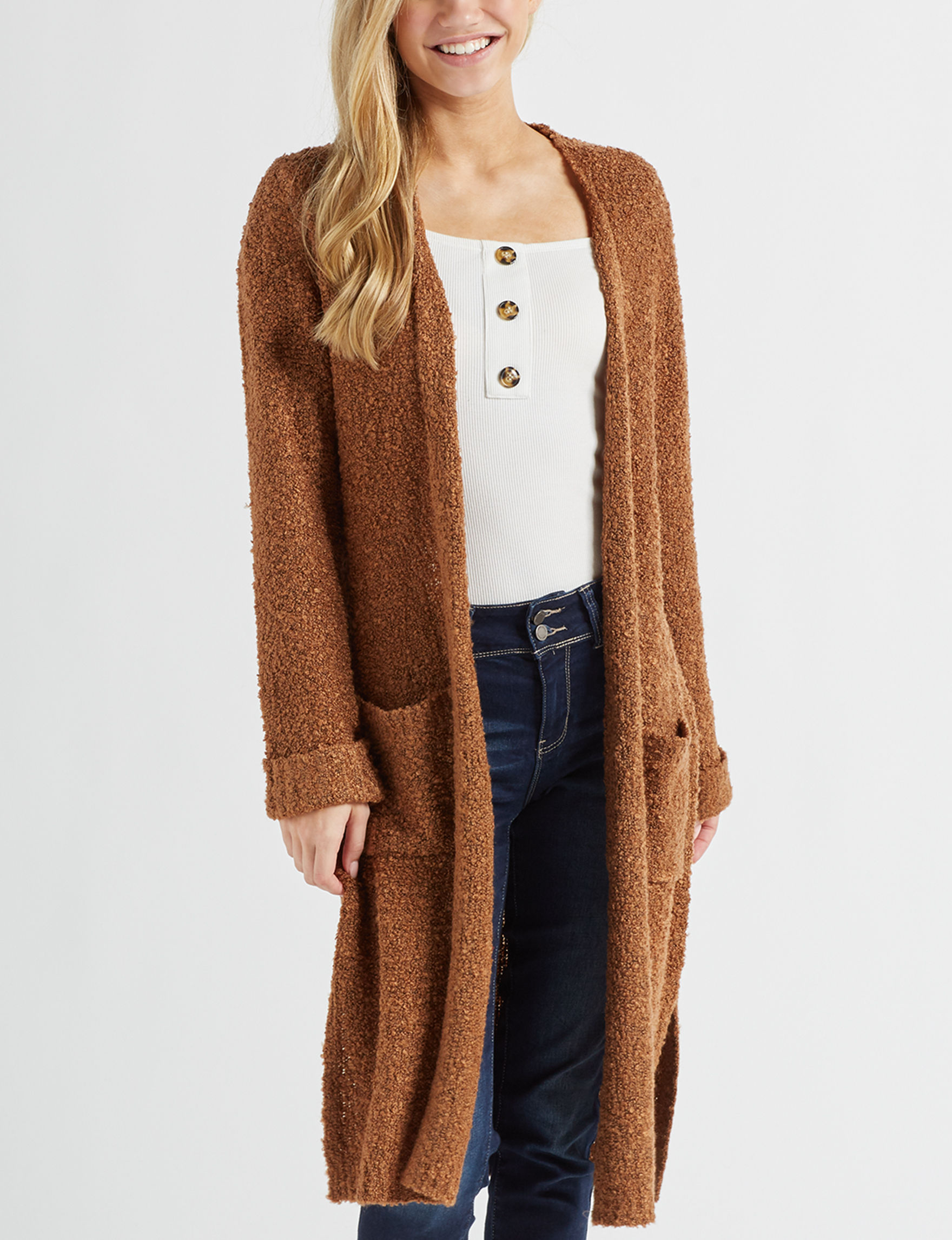 It's Our Time Medium Brown Cardigans