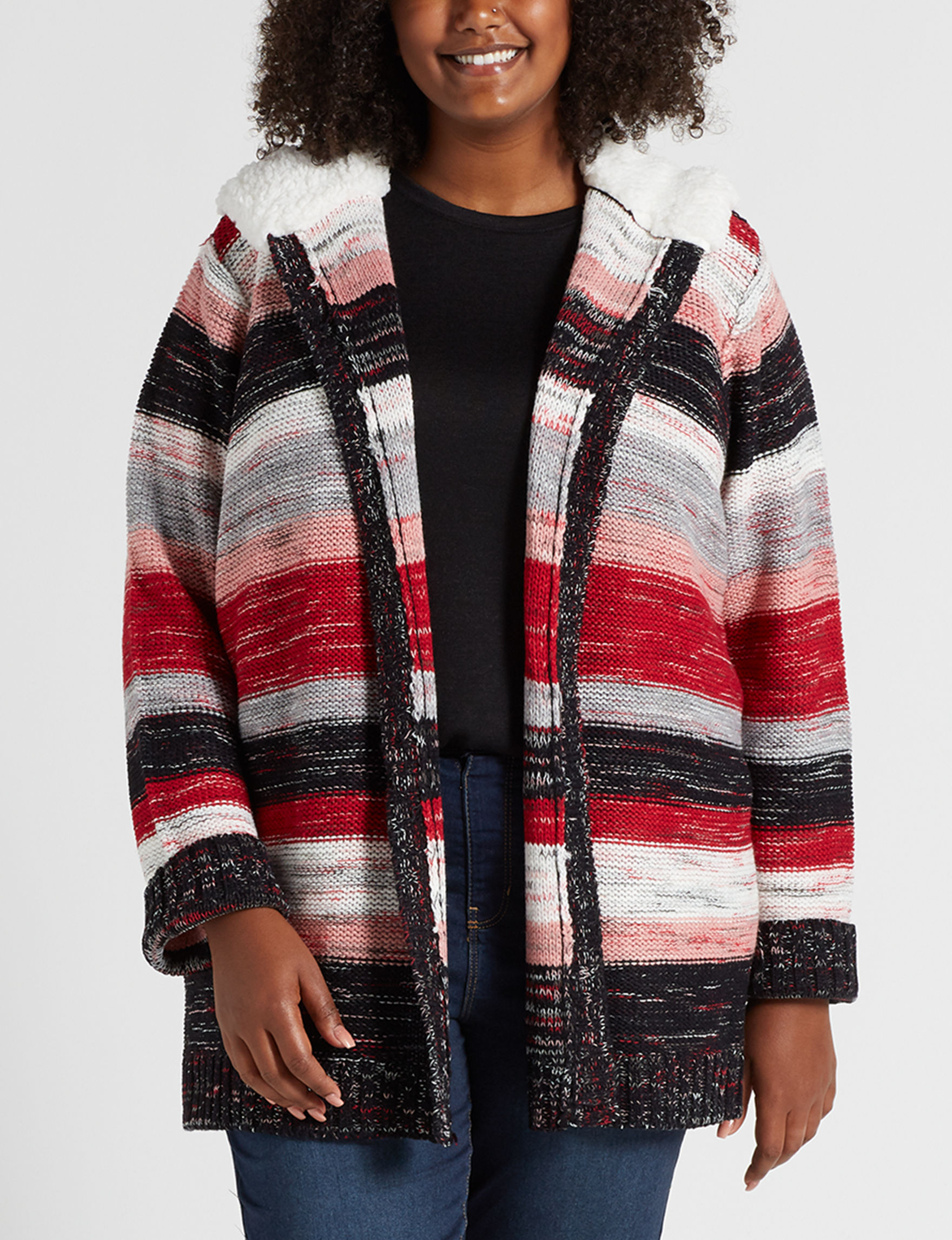 Almost Famous Red Multi Cardigans