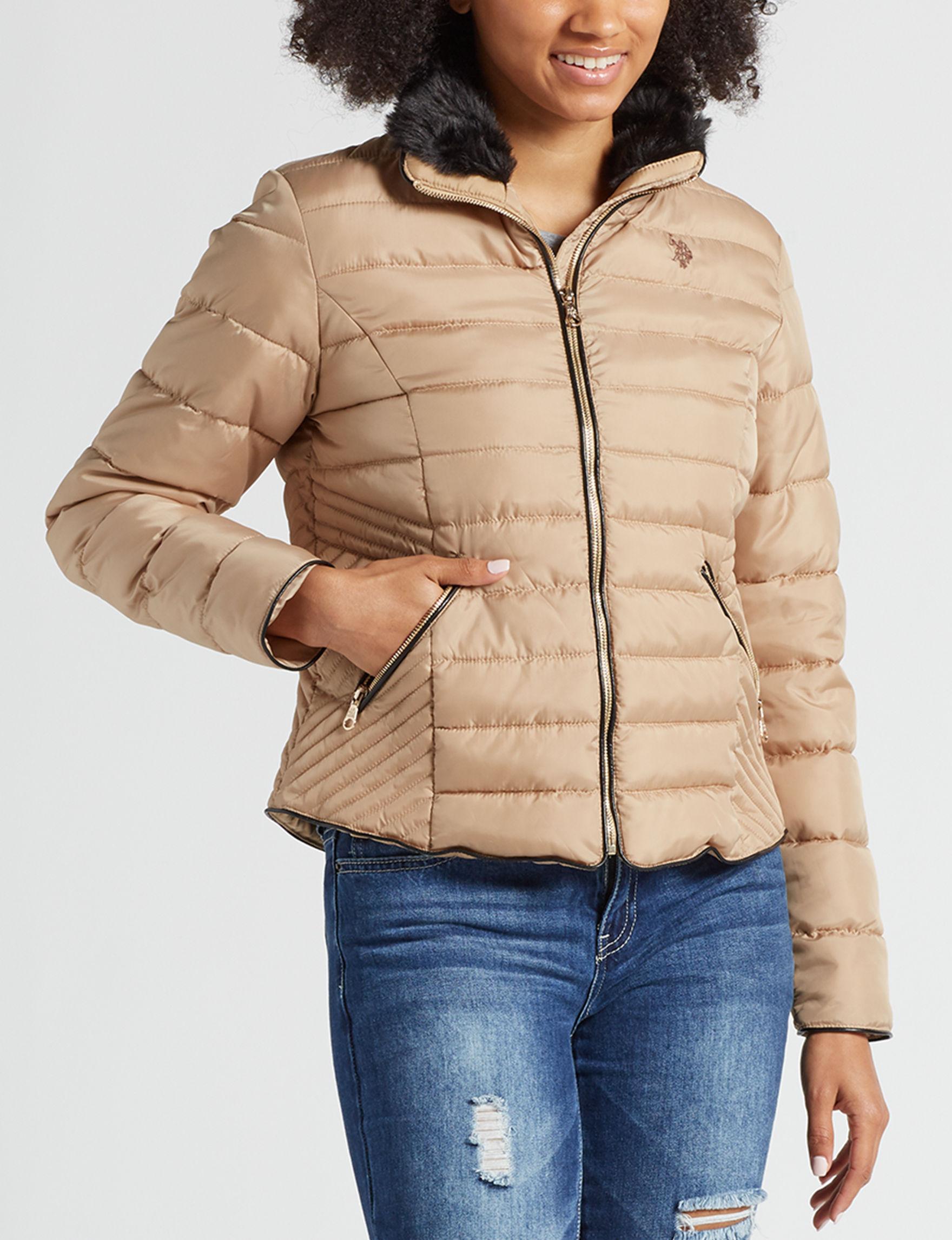 U.S. Polo Assn. Tan Lightweight Jackets & Blazers