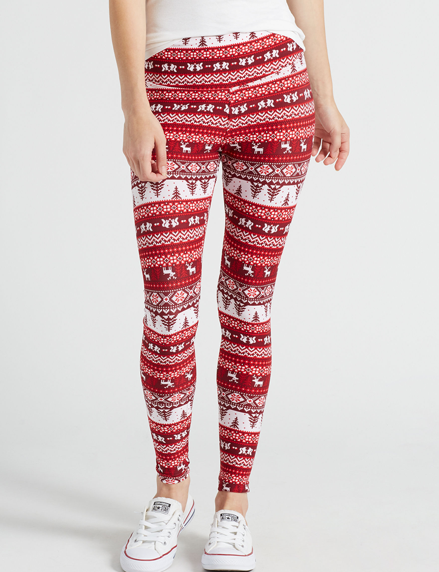 Justify Wine / Ivory Leggings