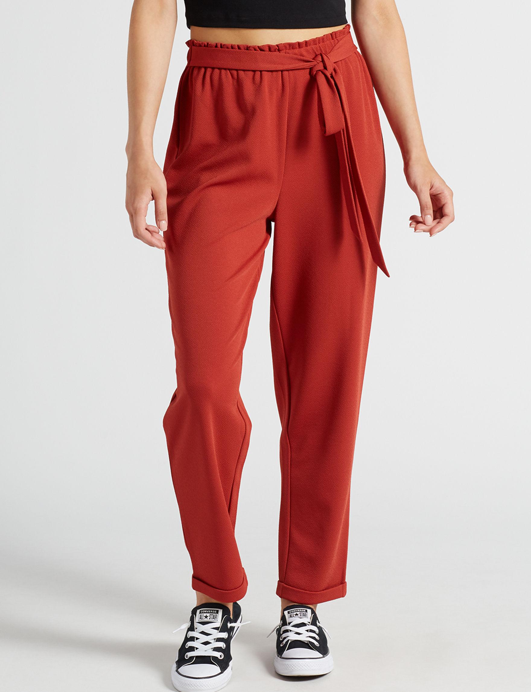 No Comment Red Soft Pants
