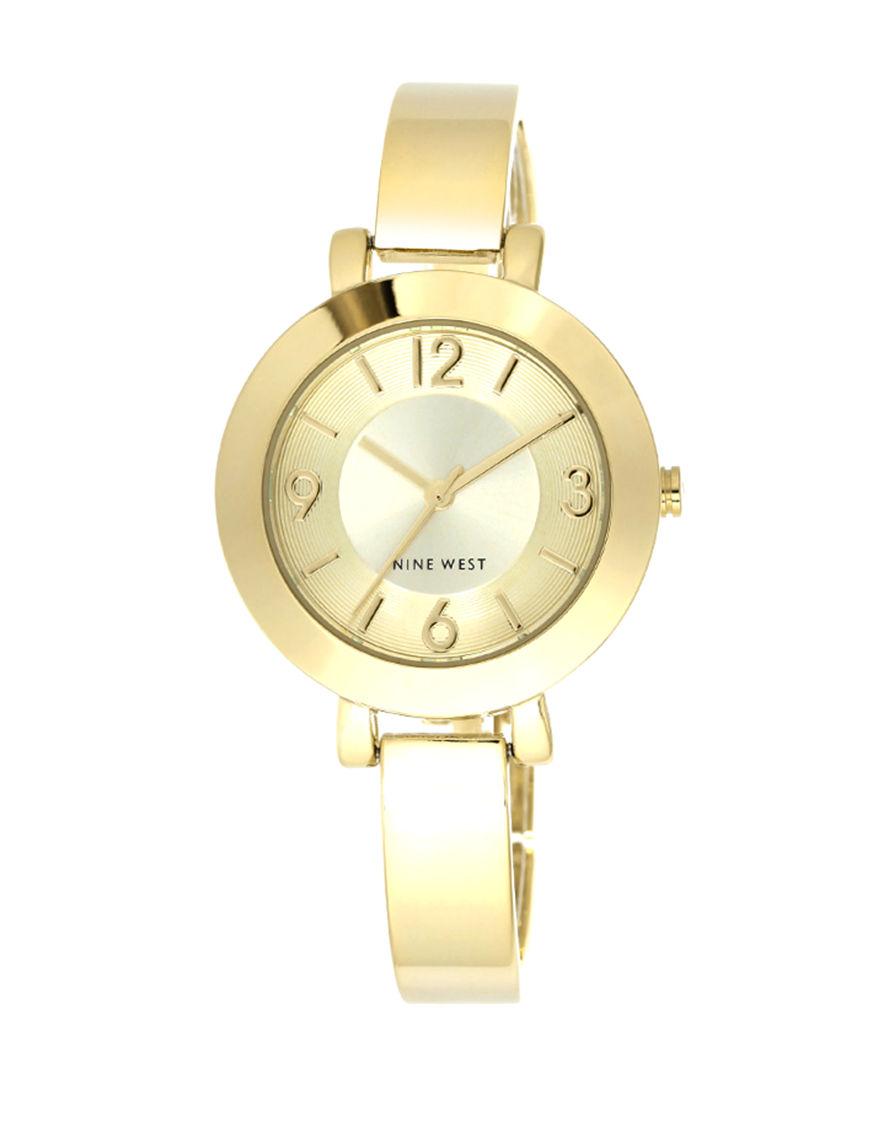 Nine West White / Silver Fashion Watches